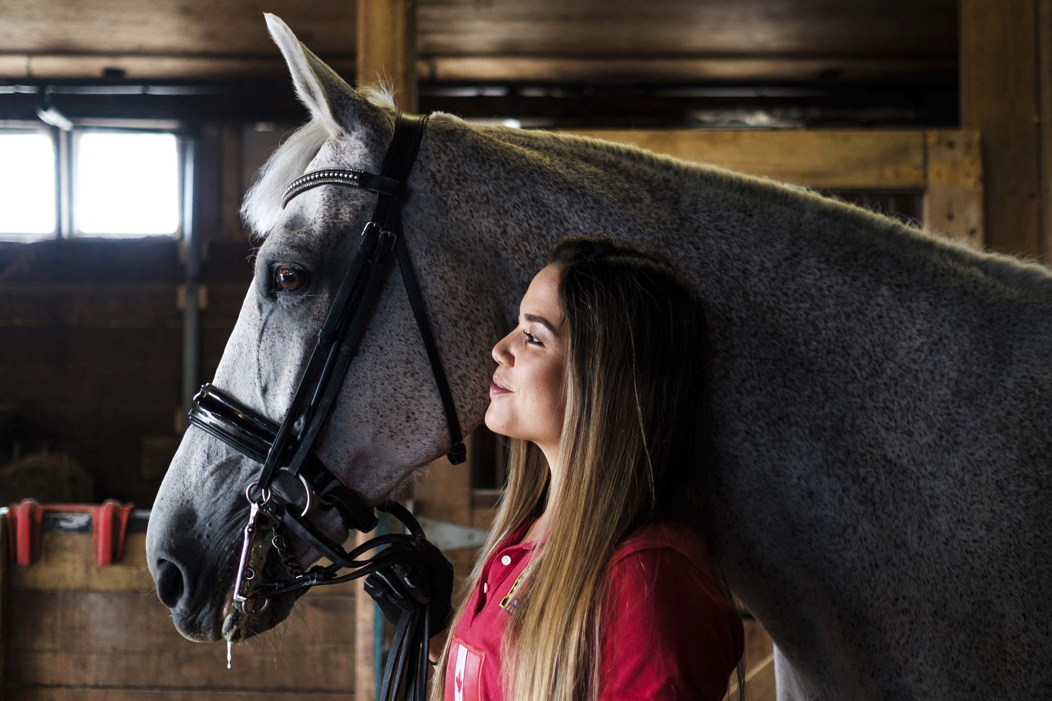 Chia gained some of her greatest successes aboard Teo, a Dutch Warmblood, competing at the Grand Prix level.