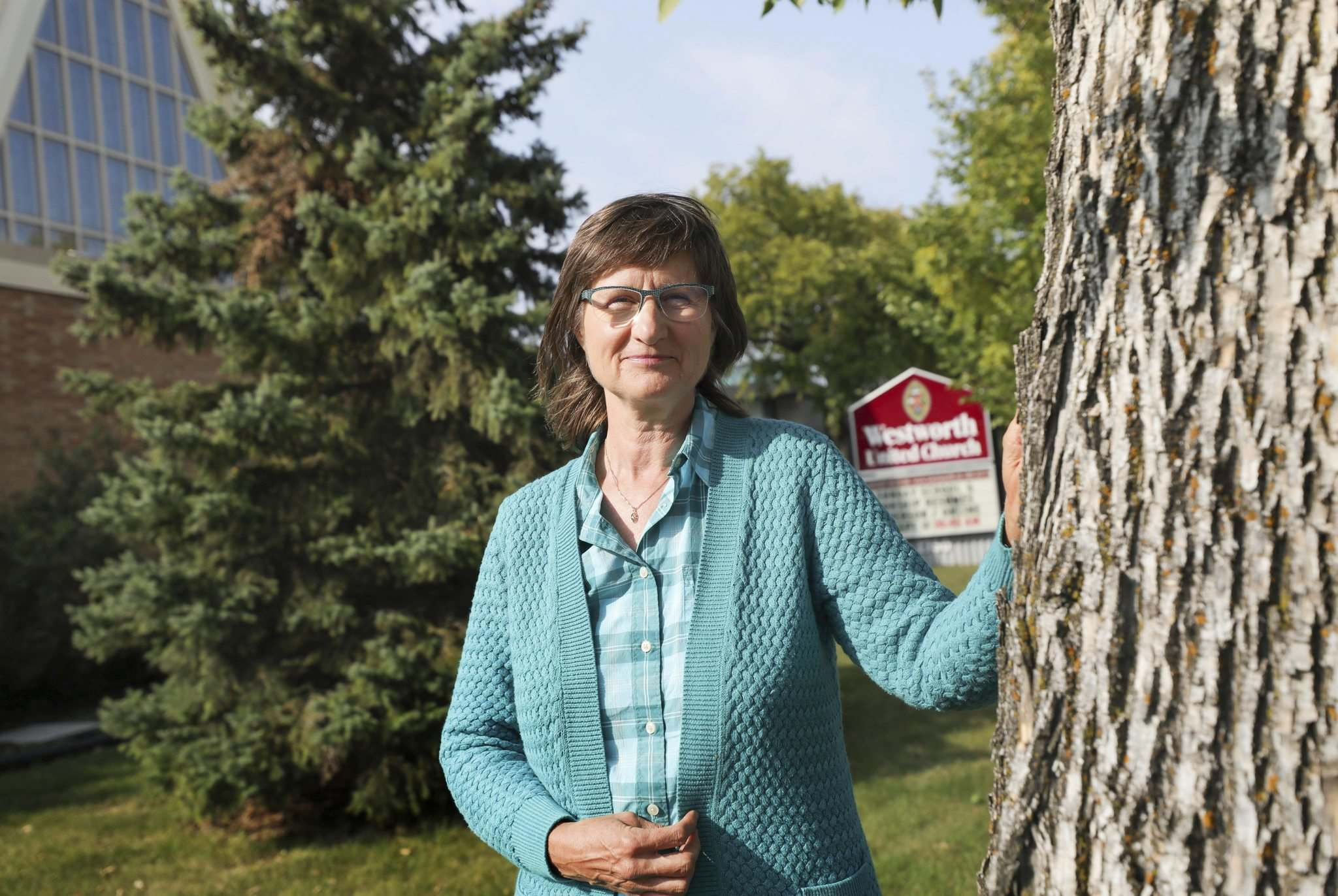 RUTH BONNEVILLE / WINNIPEG FREE PRESS</p><p>FAITH - United Church vigil for Universal Basic Income.</p><p>Portraits of Loraine McKenzie Shepherd, minister at Westworth United Church, outside her church on Friday. Loraine McKenzie Shepherd is organizing a prayer vigil outside the office of MP Dan Vandal on Tuesday, Sept. 22, 12:30 PM.</p><p>Story to run in advance of the Speech from the Throne in support of Universal Basic Income which is part of a cross-Canada United Church of Canada call to action on this issue.</p><p>See Story by John Longhurst</p></p><p>Sept 18th, 2020</p>