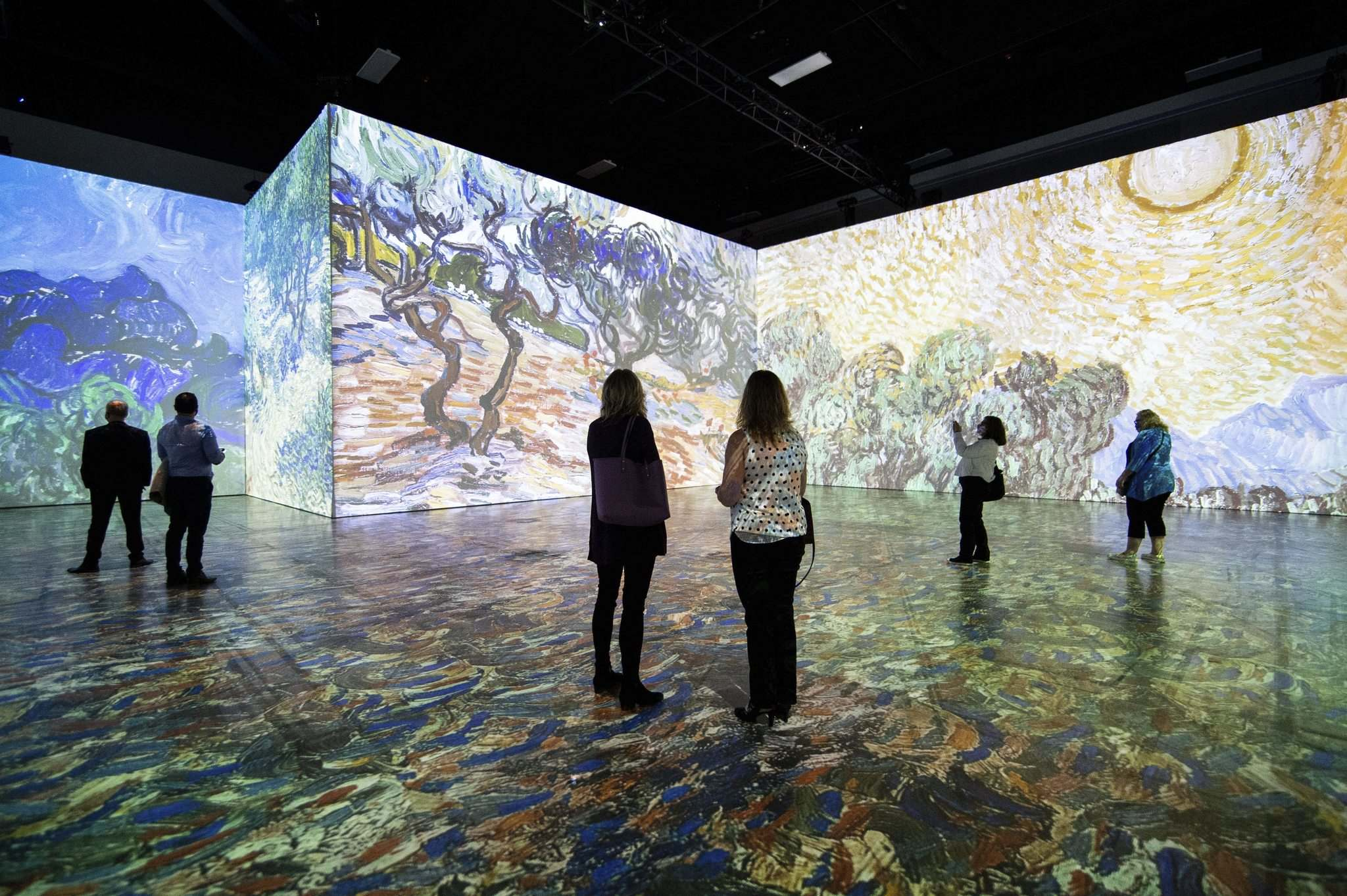 The exhibit requires you reserve the hour you will attend, which controls the number of attendees at any given time. That means it is easy to physically distance from your fellow art lovers