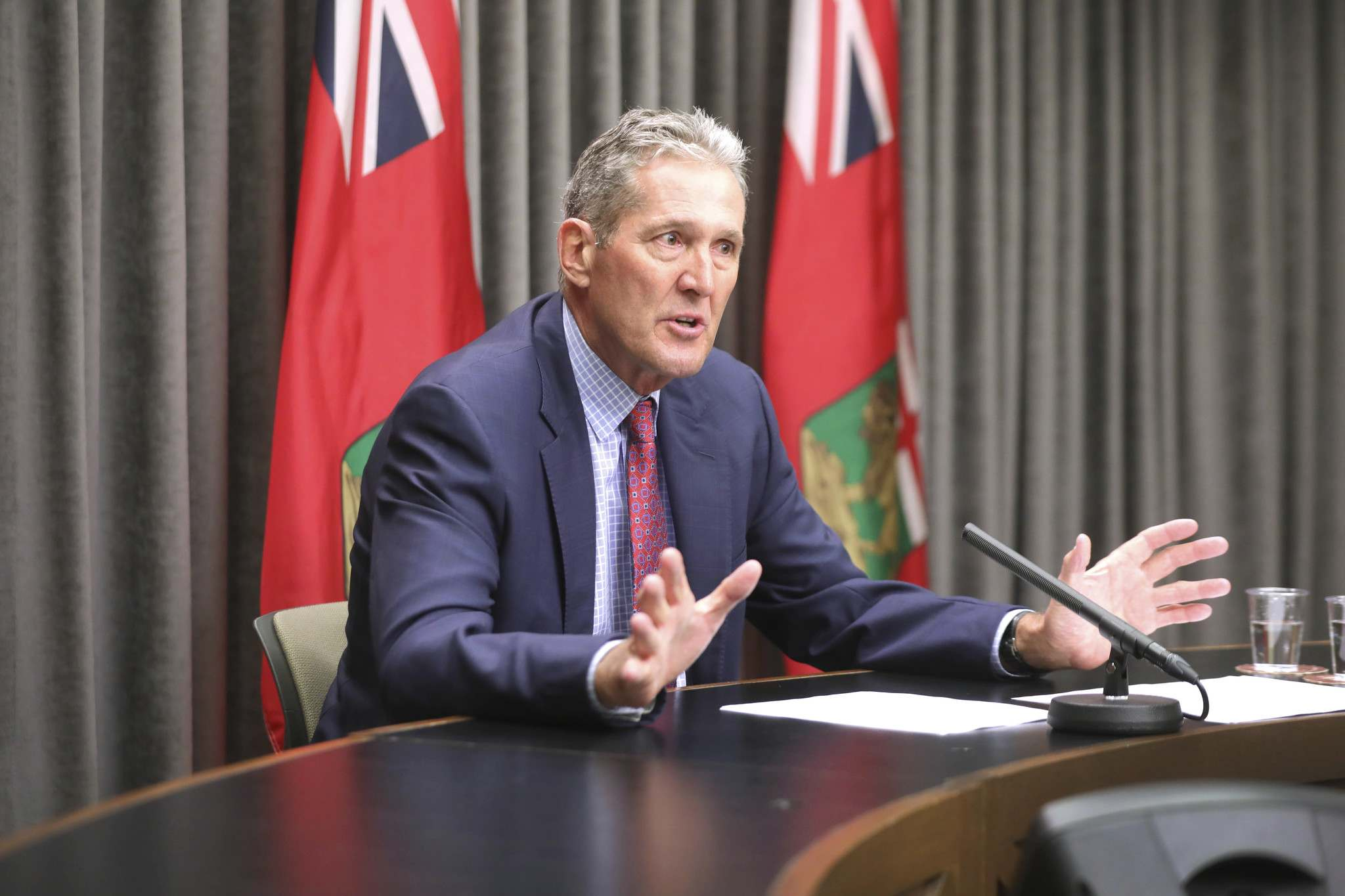Premier Brian Pallister says he needs Ottawa to step up soon with more money for health care. (Ruth Bonneville / Winnipeg Free Press)</p>