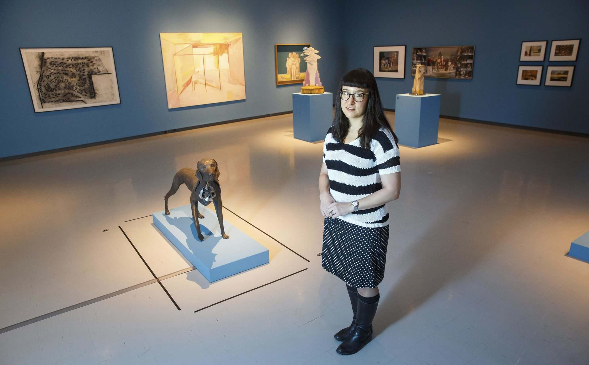 Riva Symko, the head of collections and exhibitions and curator of Canadian art at the Winnipeg Art Gallery, is preparing the exhibit In Place: Reflections of Manitoba.</p>