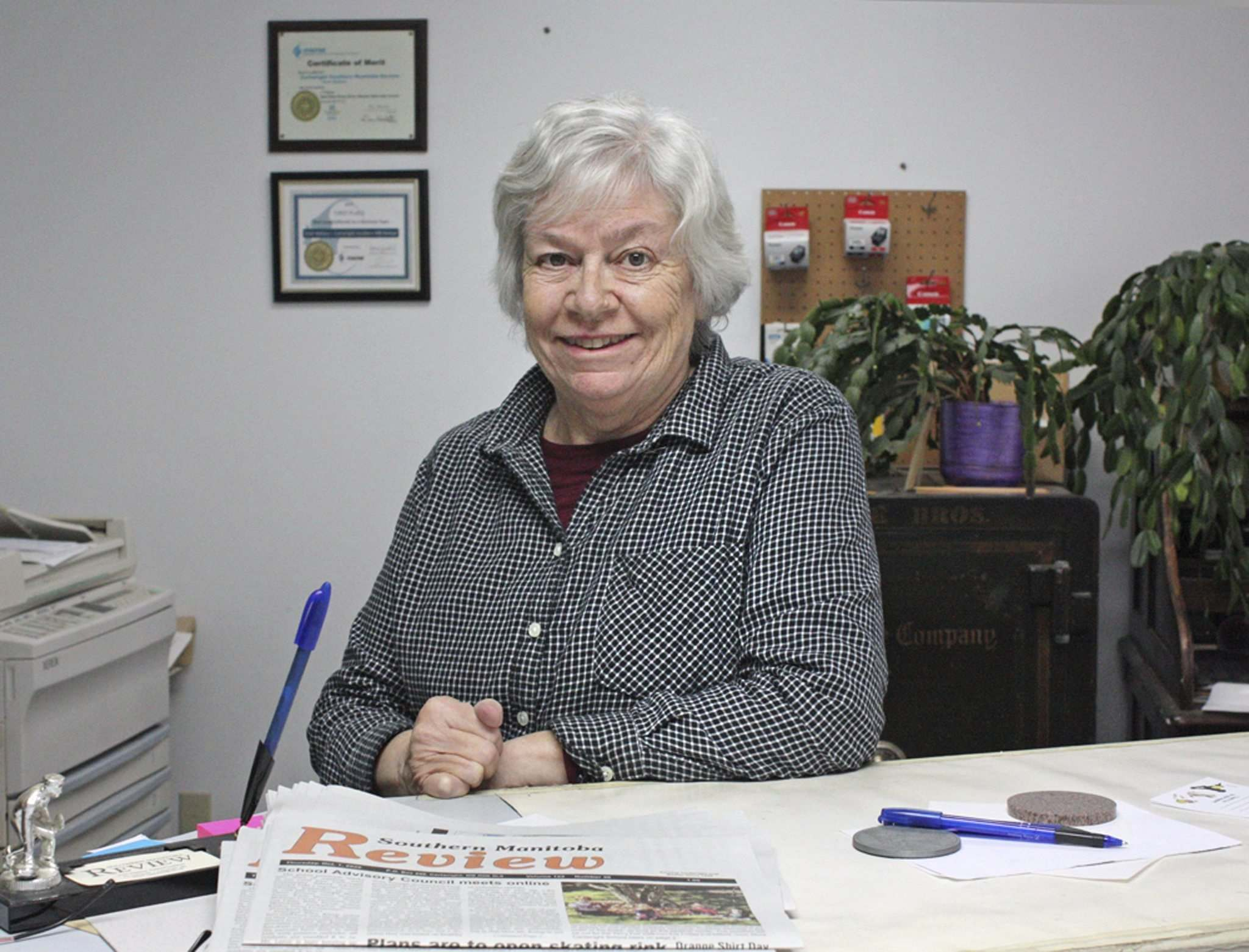 Vicki Wallace, editor of the Southern Manitoba Review in Cartwright.