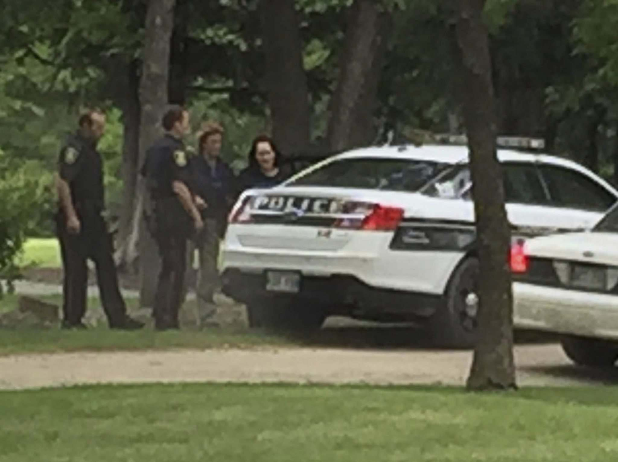 SUPPLIED</p><p>Police scene at Bruce Park Sandra Giesbrecht was arrested in June.