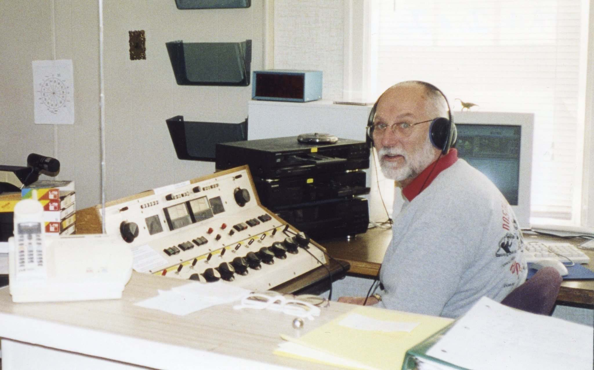 SUPPLIED PHOTOS</p><p>Harry Taylor spends some of his retirement at the controls as a volunteer at CJNU, the community FM station.</p></p>