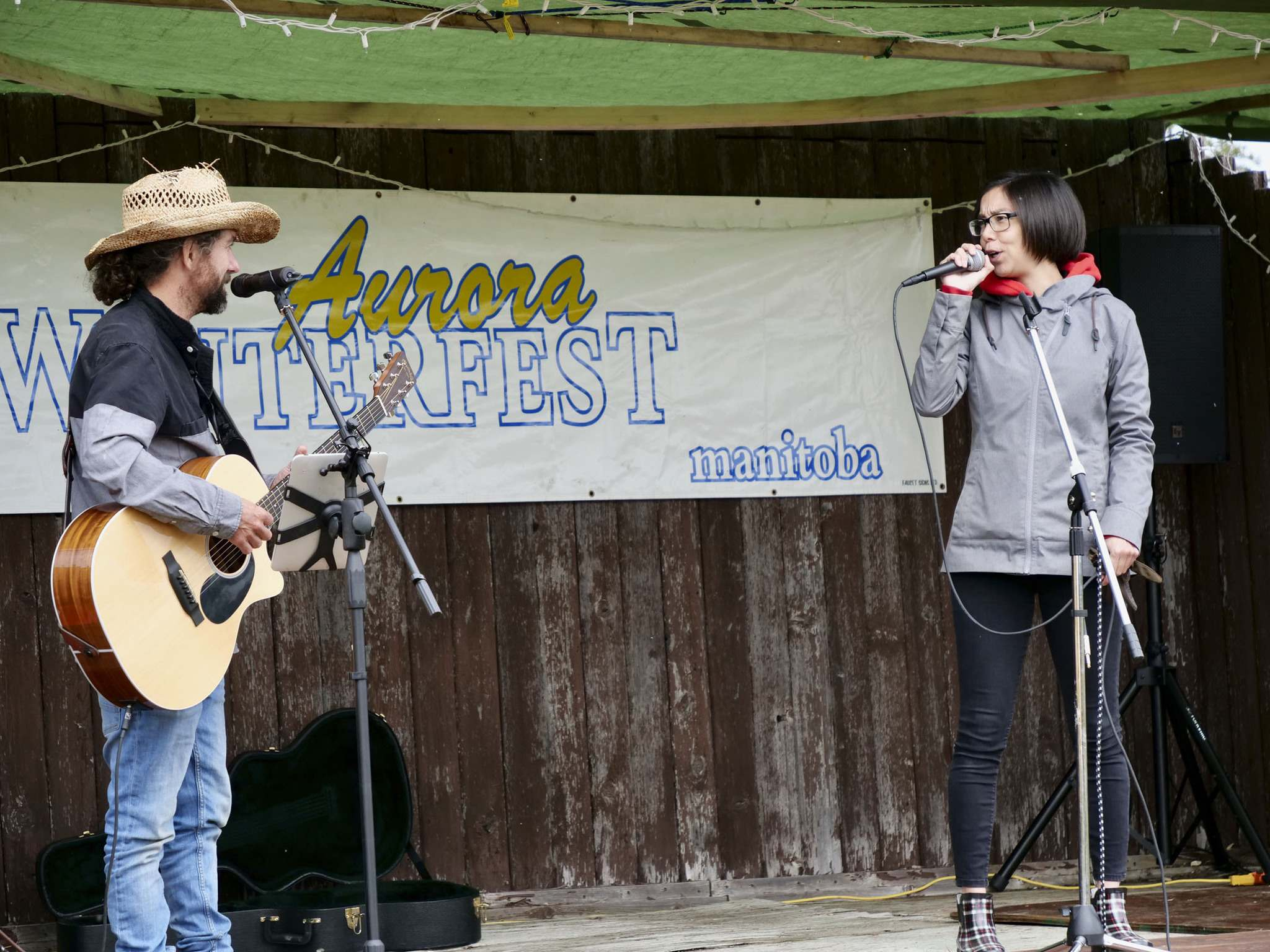 SARAH LAWRYNUIK / WINNIPEG FREE PRESS</p><p>Eden Lavallee (right) performs in August at the town's pandemic-delayed Winterfest: 'Churchill seems to attract very unique, different people from everywhere'</p>