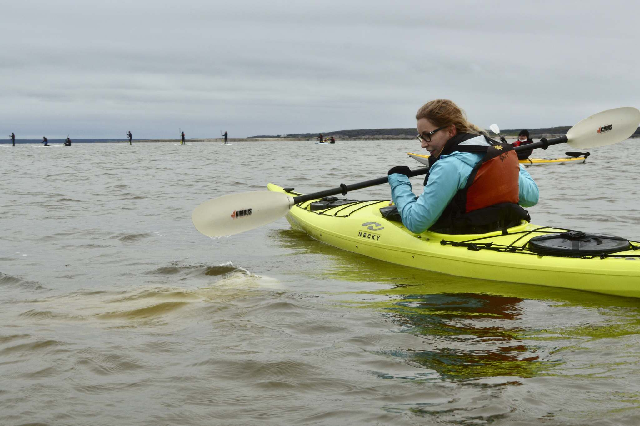 Faye Kehler photo</p><p>Winnipeg Free Press reporter Sarah Lawrynuik has a chance to paddle alongside belugas as they socialize with tourists kayaking in the Churchill River.</p>