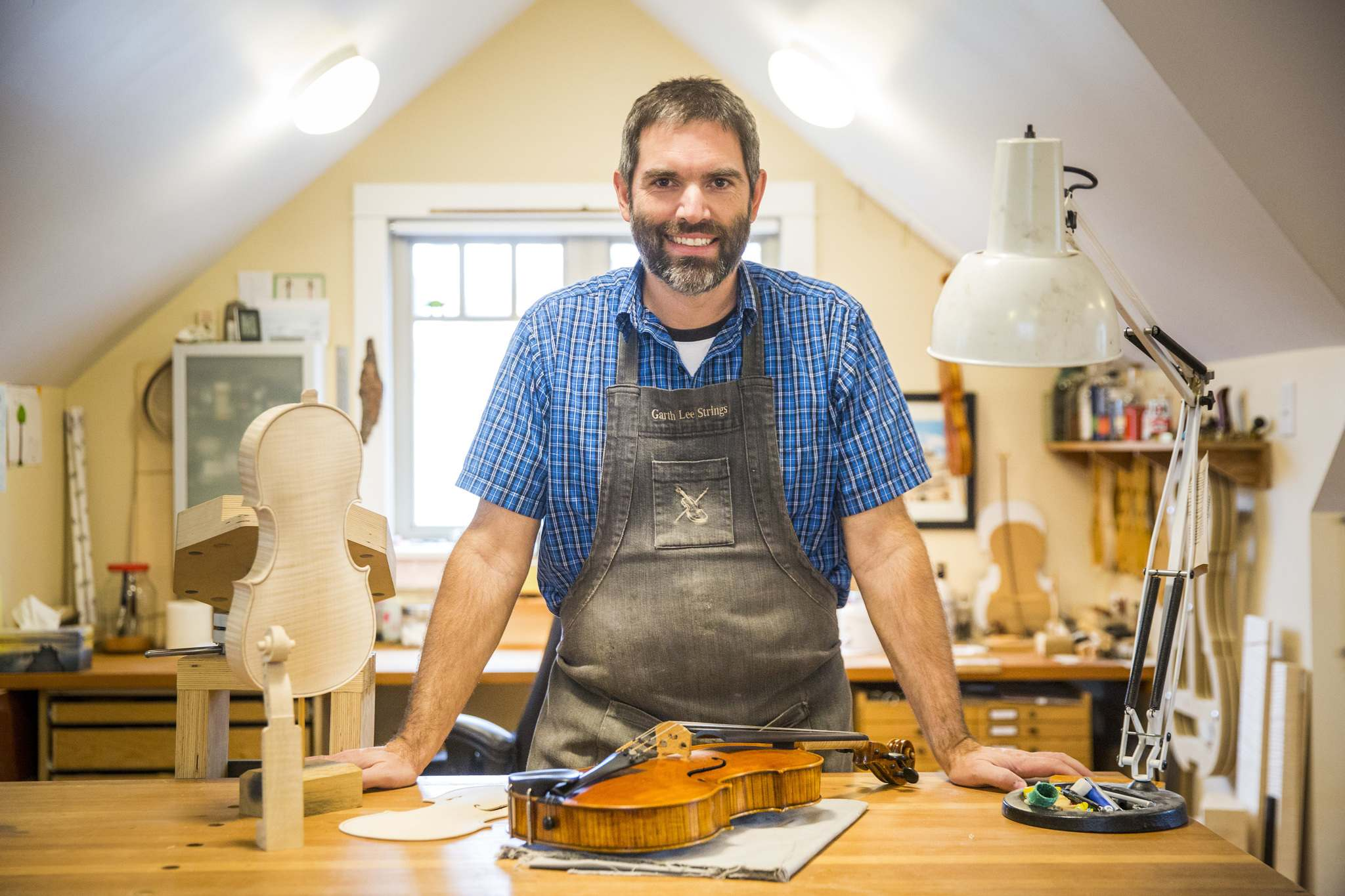 Garth Lee is one of only about 25 luthiers — woodworkers who make violins, violas and cellos — in Canada.</p>