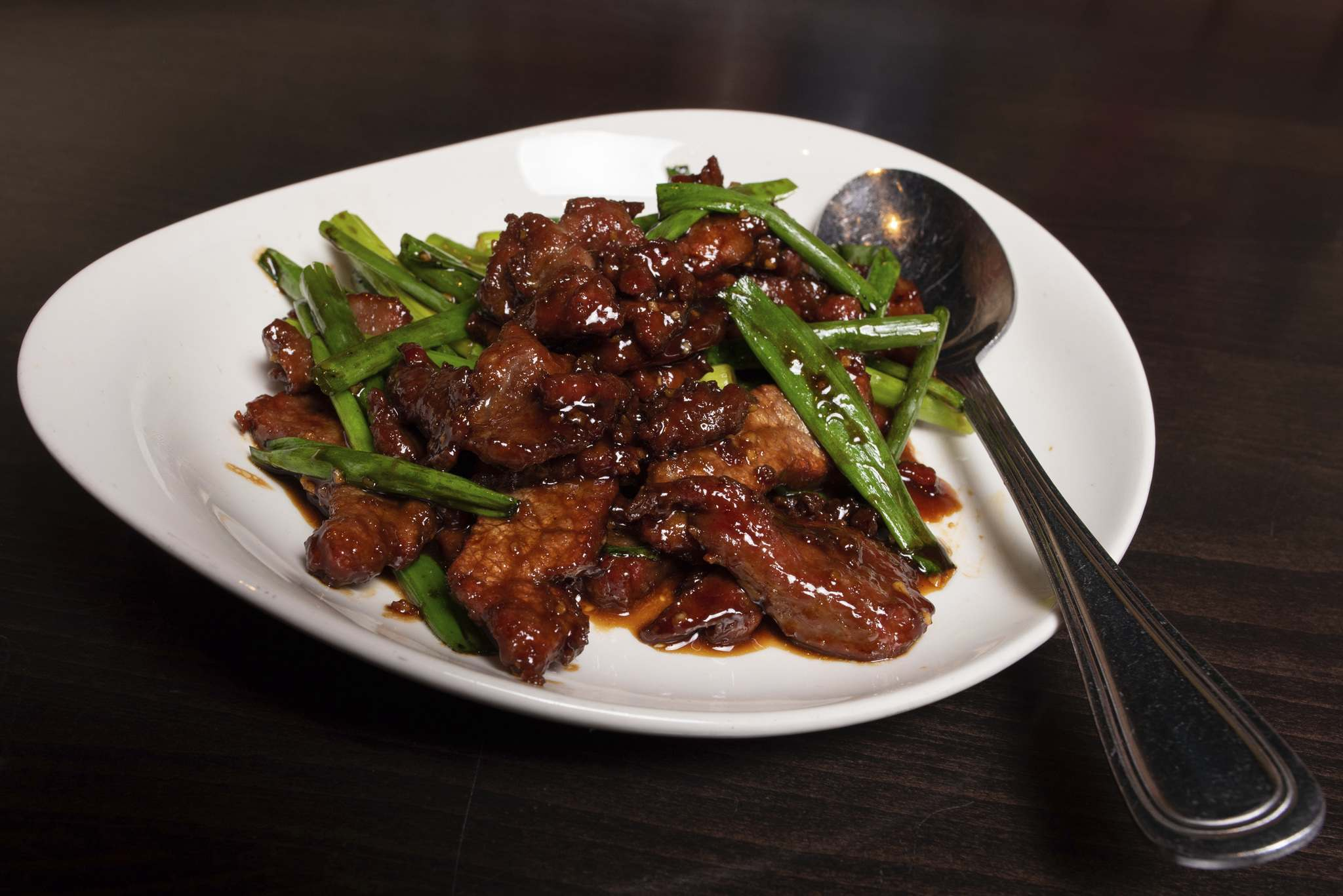 The Mongolian beef at P.F. Chang's.</p>