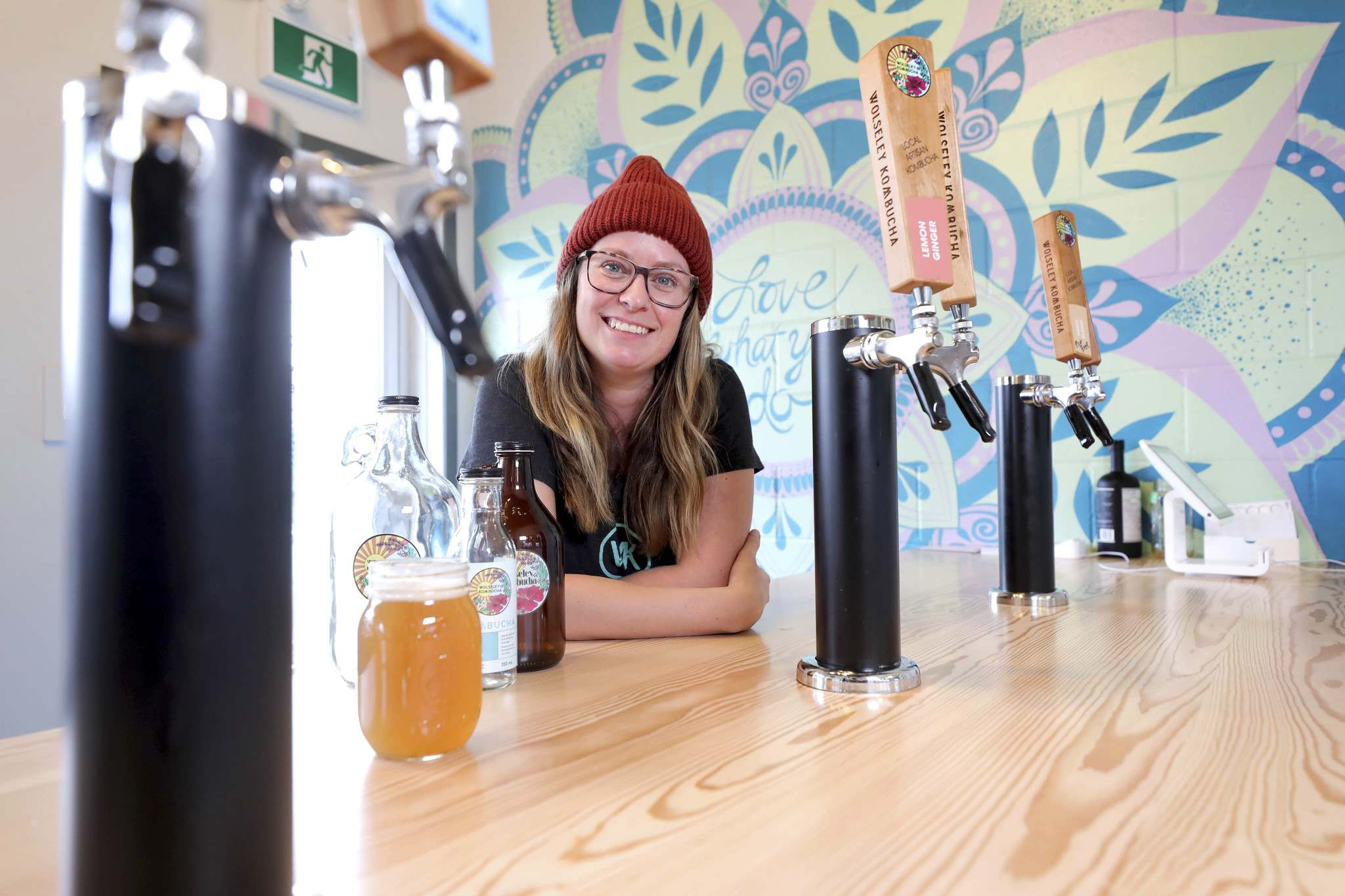 RUTH BONNEVILLE / WINNIPEG FREE PRESS</p><p>Michelle Leclair, owner and founder of Wolseley Kombucha, says if she hadn't attended Futurpreneur, 'I wouldn't have been able to see the brewing success and growth I've seen since then.'</p>