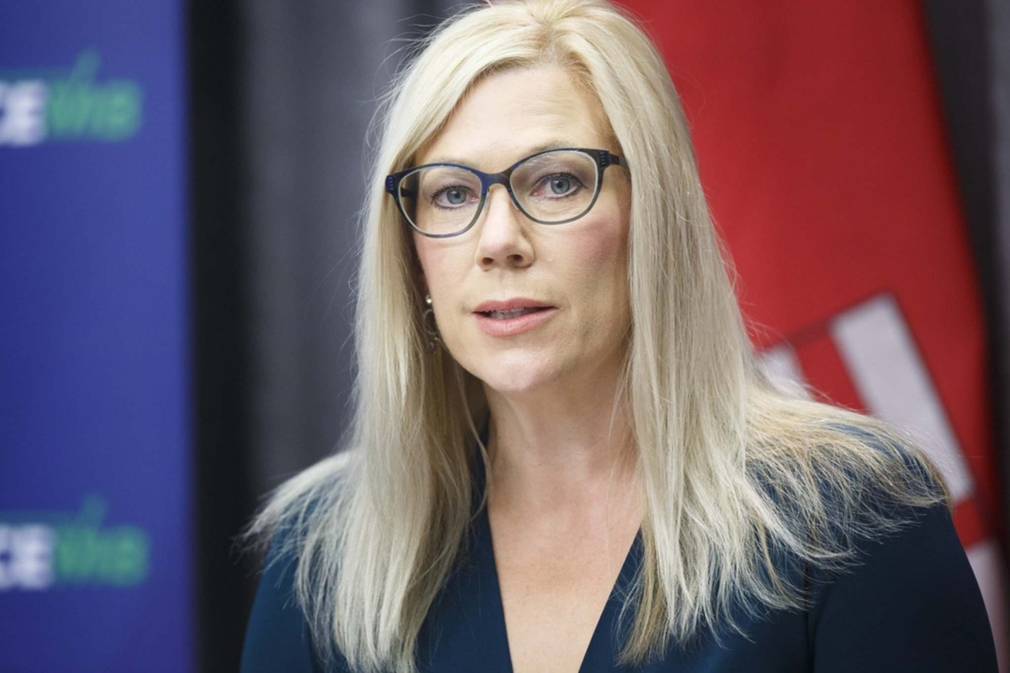 MIKE DEAL / WINNIPEG FREE PRESS</p><p>Municipal Relations Minister Rochelle Squires announces Thursday the provincial government will be handing over $100 million to Manitoba municipalities as part of the federal Safe Restart Agreement.</p>