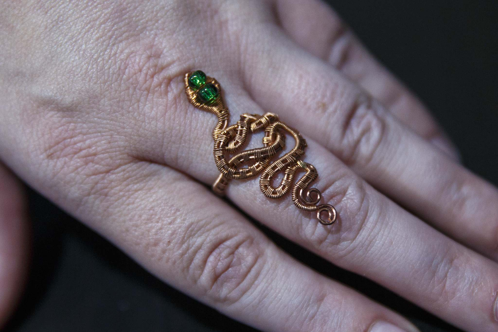 MIKE DEAL / WINNIPEG FREE PRESS</p><p>A ring made by Kliewer from copper wire.</p>