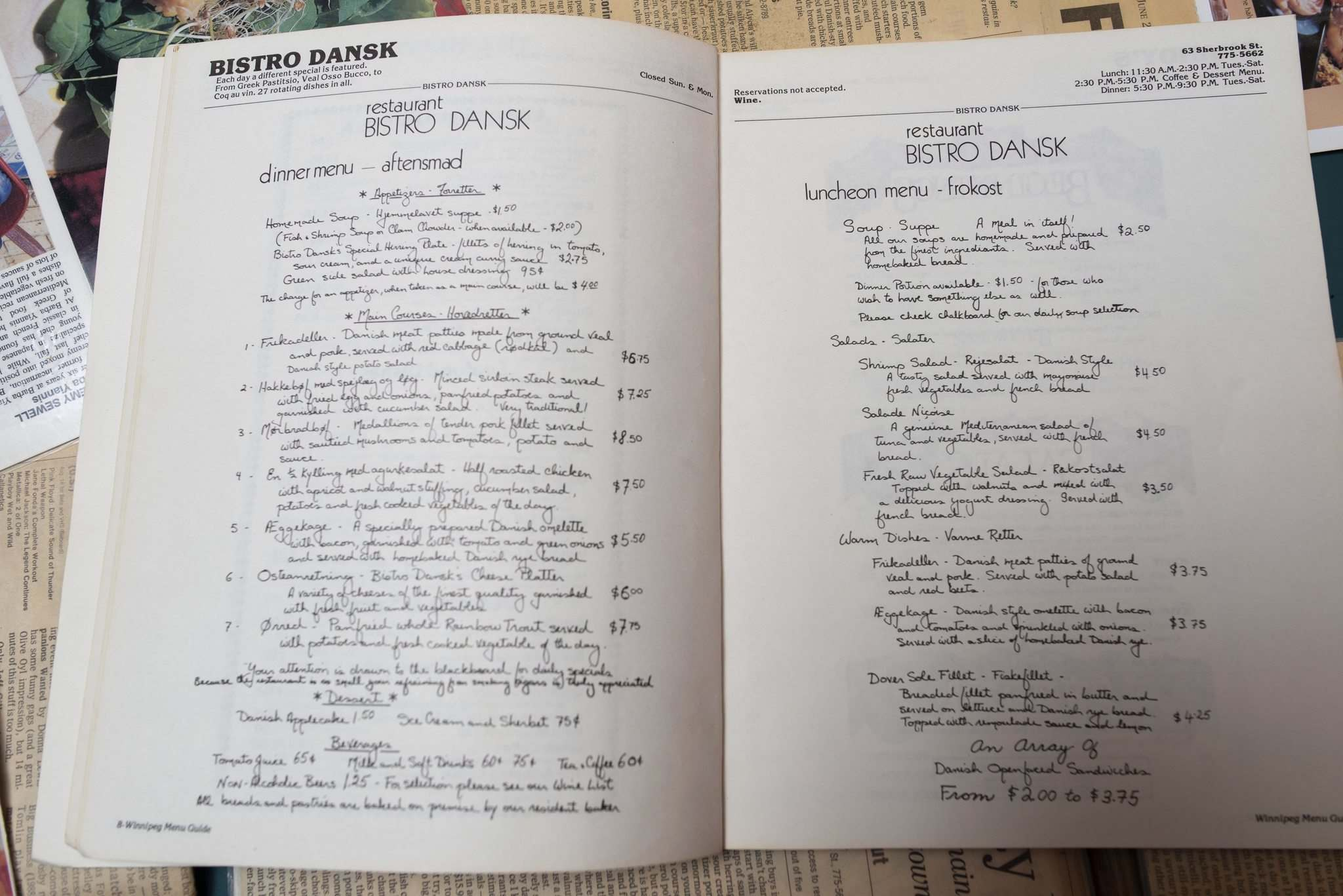 Every so often, younger customers will recommend updating the menu, and then regulars will say 'No!'</p>