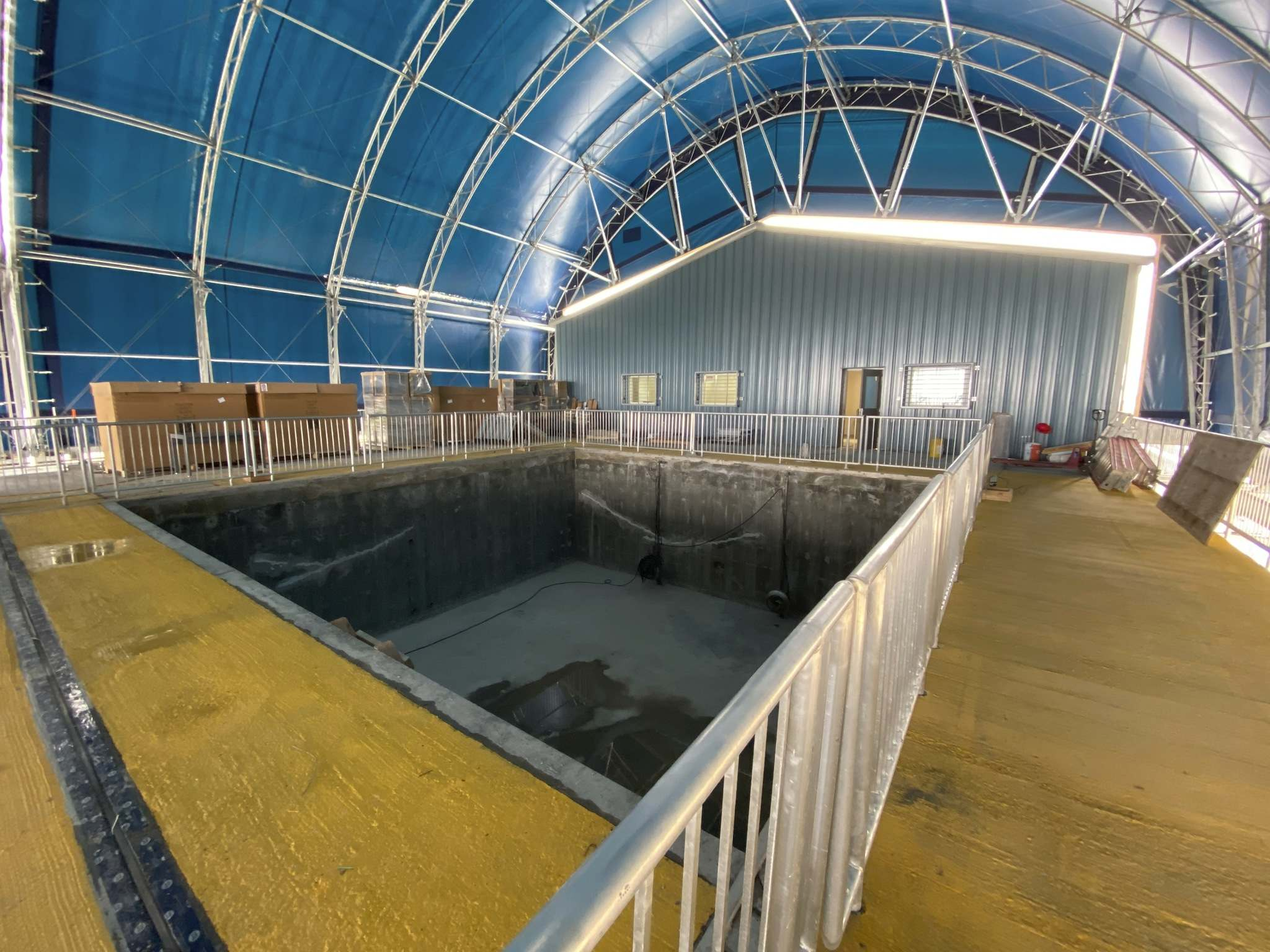 The Ocean-Sea Ice Mesocosm will allow experiments to be conducted in a controlled environment.