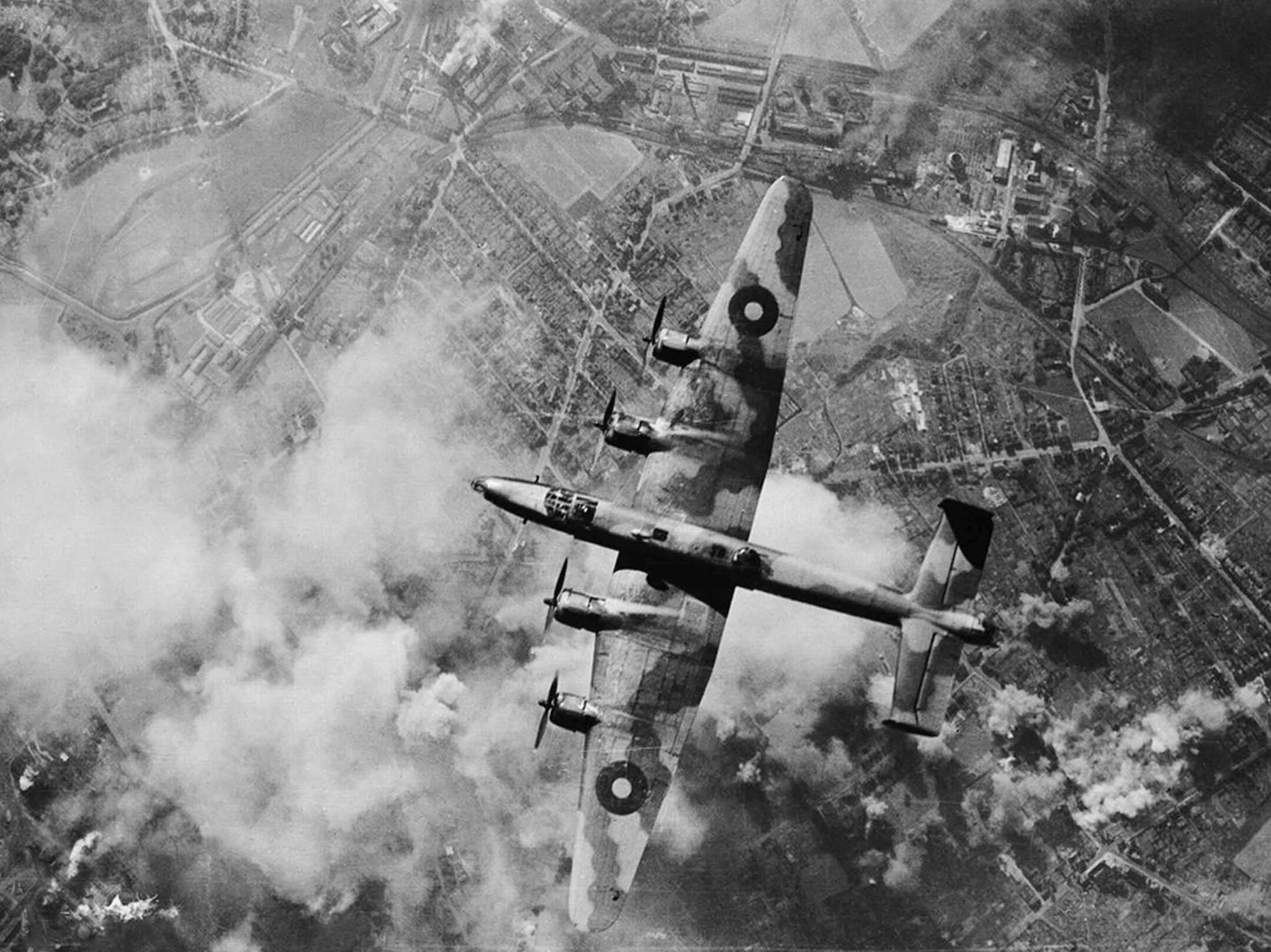 Bomber Command over Germany during the Second World War. (Supplied / Imperial War Museum)