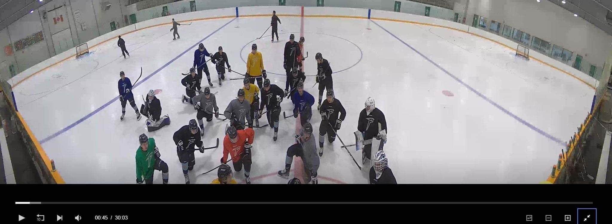 LiveBarn.com</p><p>Time-stamped Sunova Centre camera footage from Monday afternoon shows Winnipeg Freeze players on the ice in the Warren, MB arena.</p>