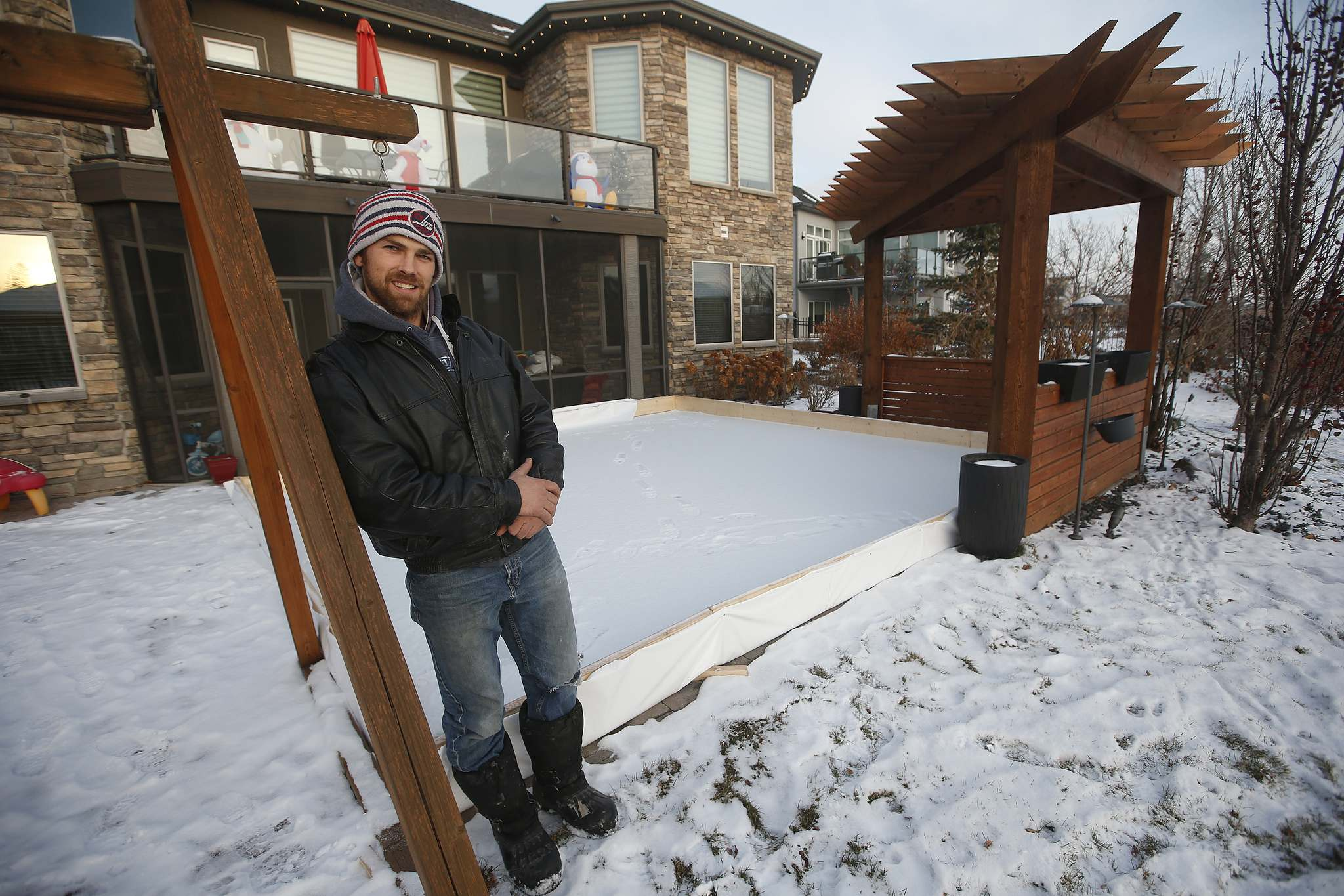 Ryan Starkell, owner of My O.D.R. (My Outdoor Rink), is looking to hire a third rink-builder to satisfy demand.</p>