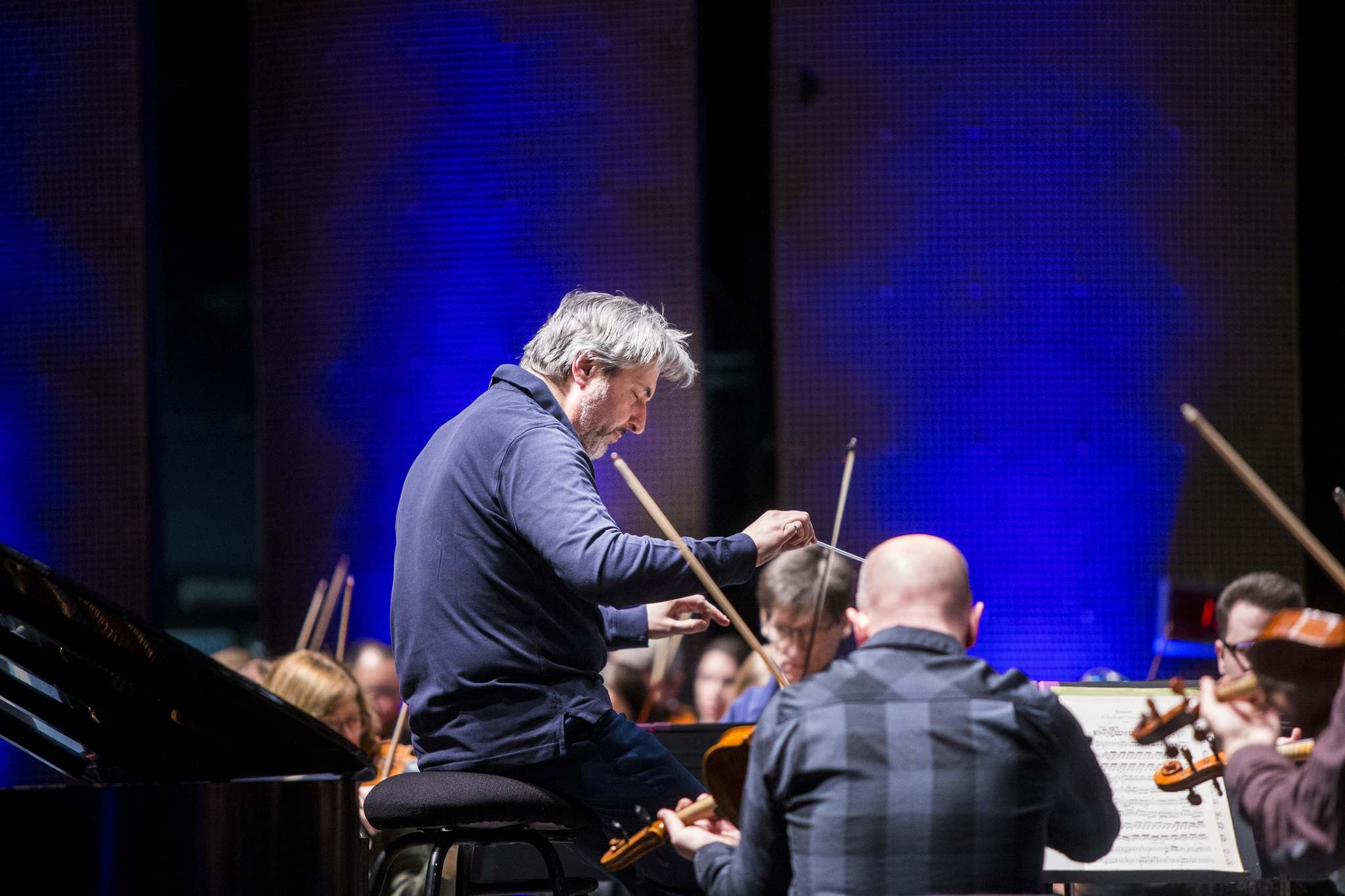 MIKAELA MACKENZIE / WINNIPEG FREE PRESS FILES</p><p>Daniel Raiskin leads the Winnipeg Symphony Orchestra as they rehearse for Back-to-Back Beethoven at the Centennial Concert Hall way back on March 5.</p>