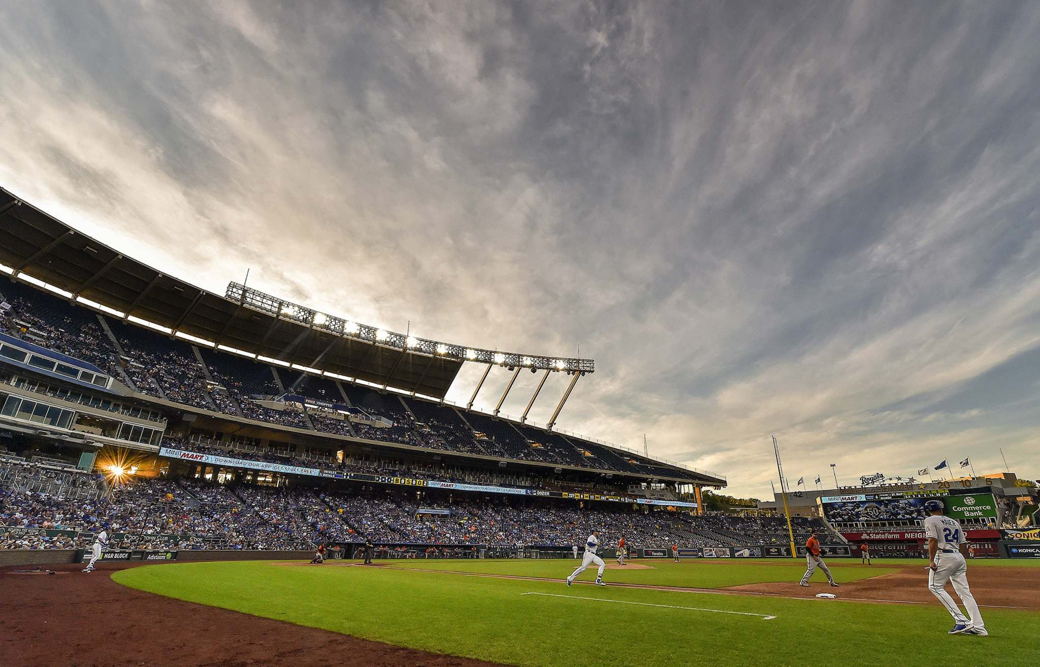 The Kansas City Royals, bought for US$96 million in 2000, were sold for US$1 billion last year.