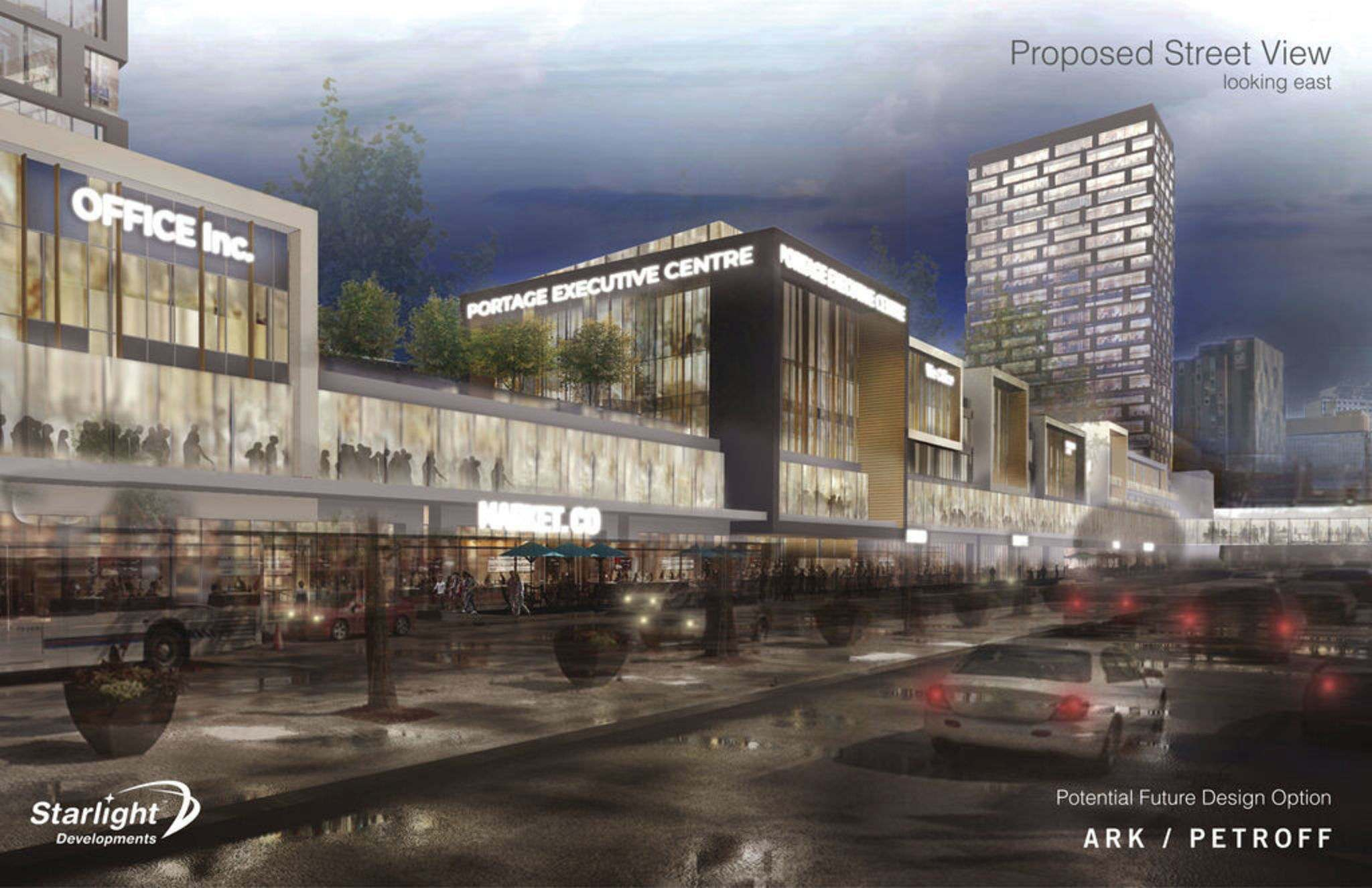 ARK / PETROF</p><p>Renderings of Starlight Investments proposed development of Portage Place.</p>