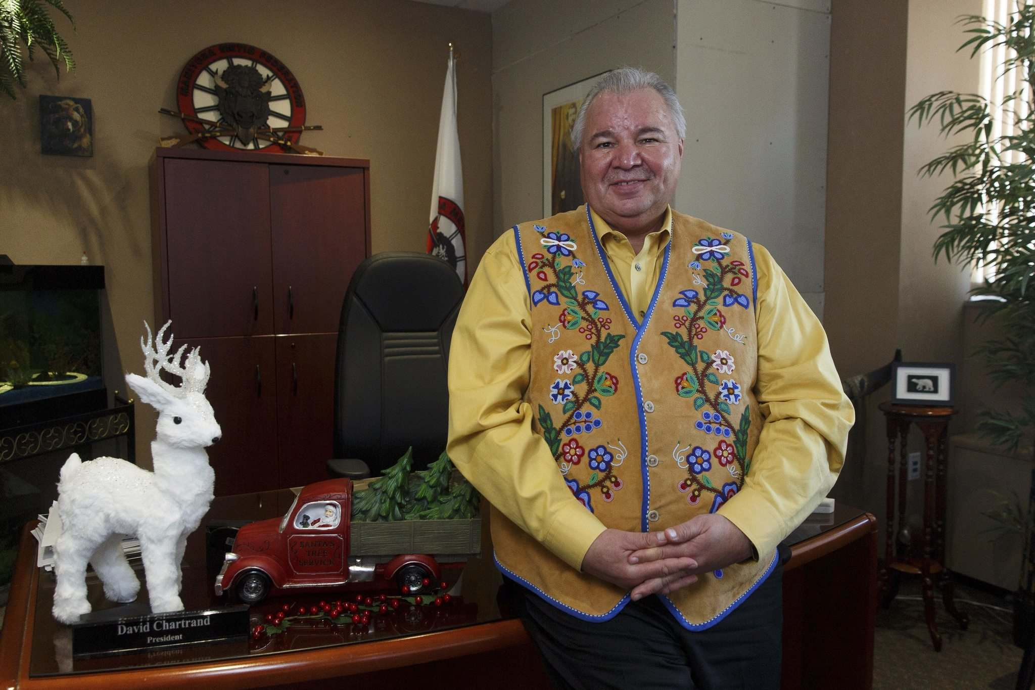 MIKE DEAL / WINNIPEG FREE PRESS</p><p>MMF president David Chartrand: every kid deserves at least some form of Christmas.</p>