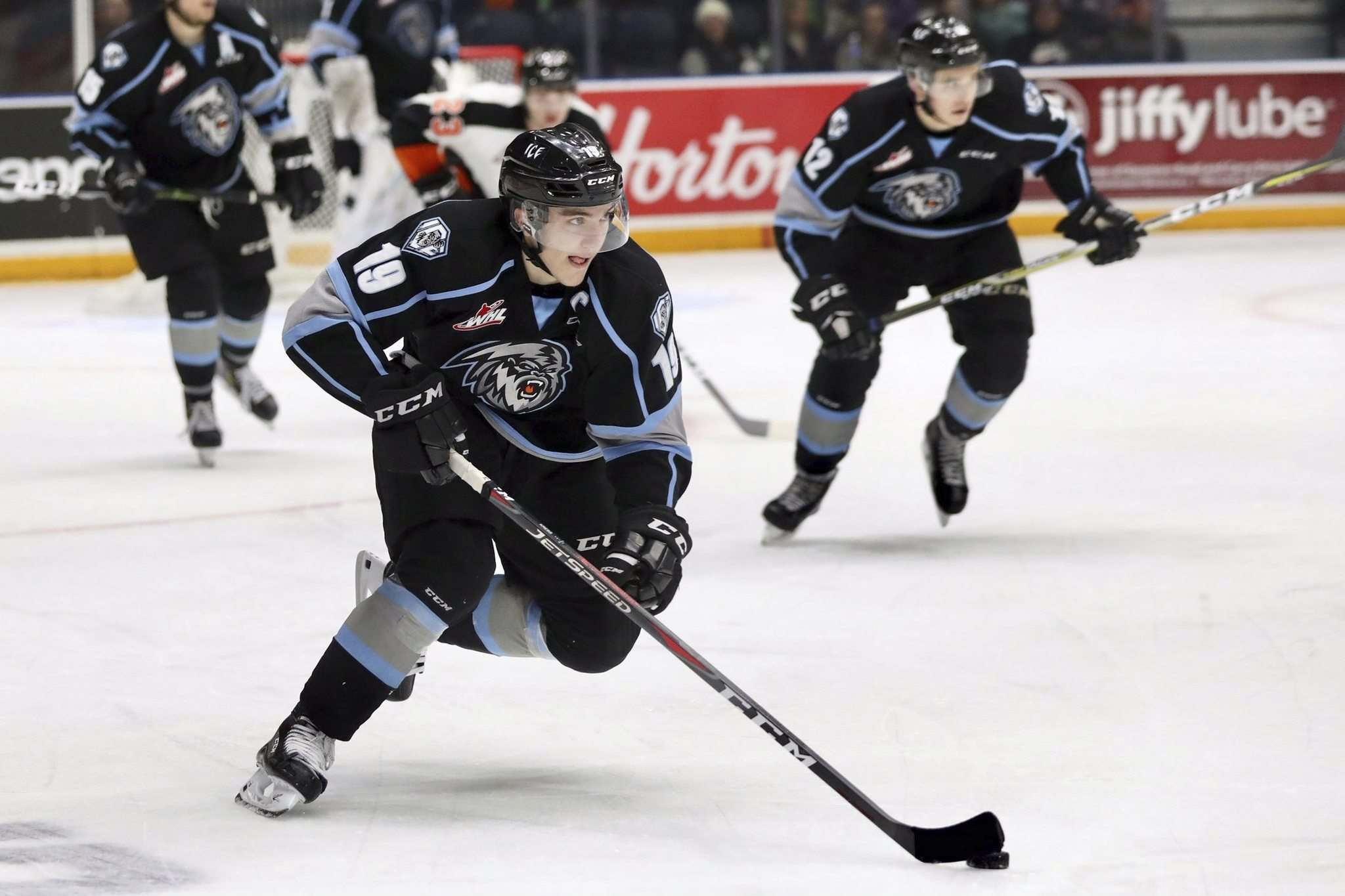 SUPPLIED</p><p>Vegas Golden Knights GM Kelly McCrimmon says the club's 2019 first-round draft choice, Winnipeg Ice centre Peyton Krebs, stock rises as he becomes a more versatile player.</p>