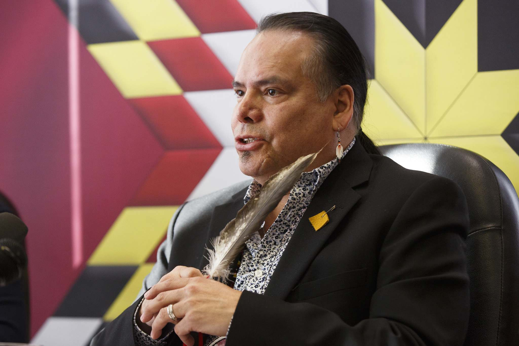 """MIKE DEAL / FREE PRESS FILES</p><p>""""I want to commend Chief Eric Redhead for his diligent advocacy for the residents of Shamattawa. Last week he asked for help from the Canadian military and he did not stop asking for this assistance,"""" said Manitoba Keewatinowi Okimakanak's Grand Chief Garrison Settee.</p>"""