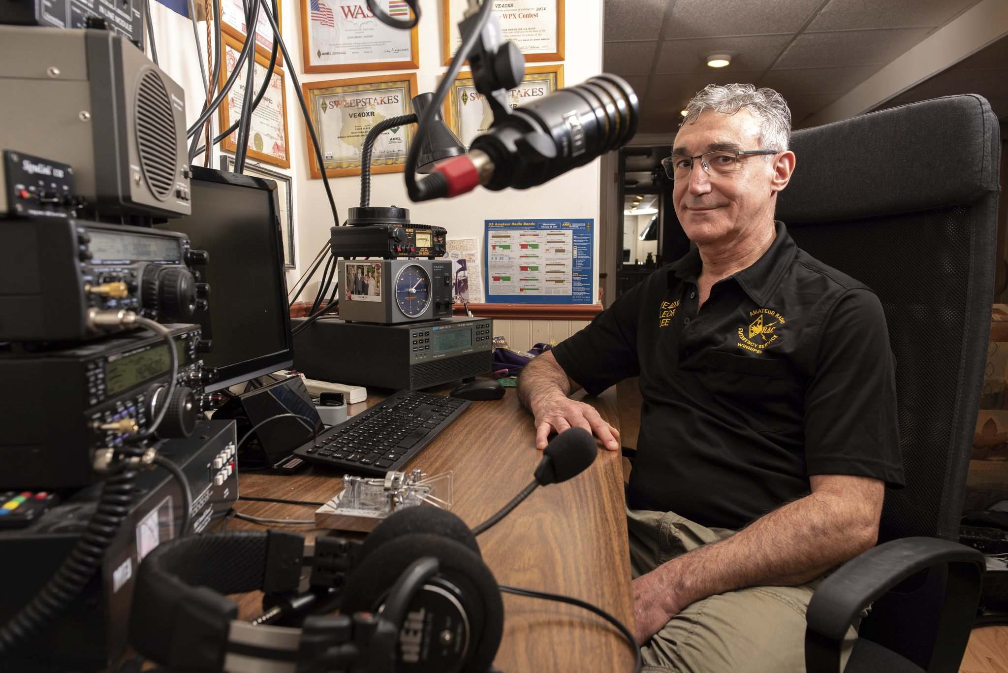Leor Drory enjoys working at contacting as many countries and other national entities as possible, a pursuit known as DXing, from his Winnipeg ham radio station.