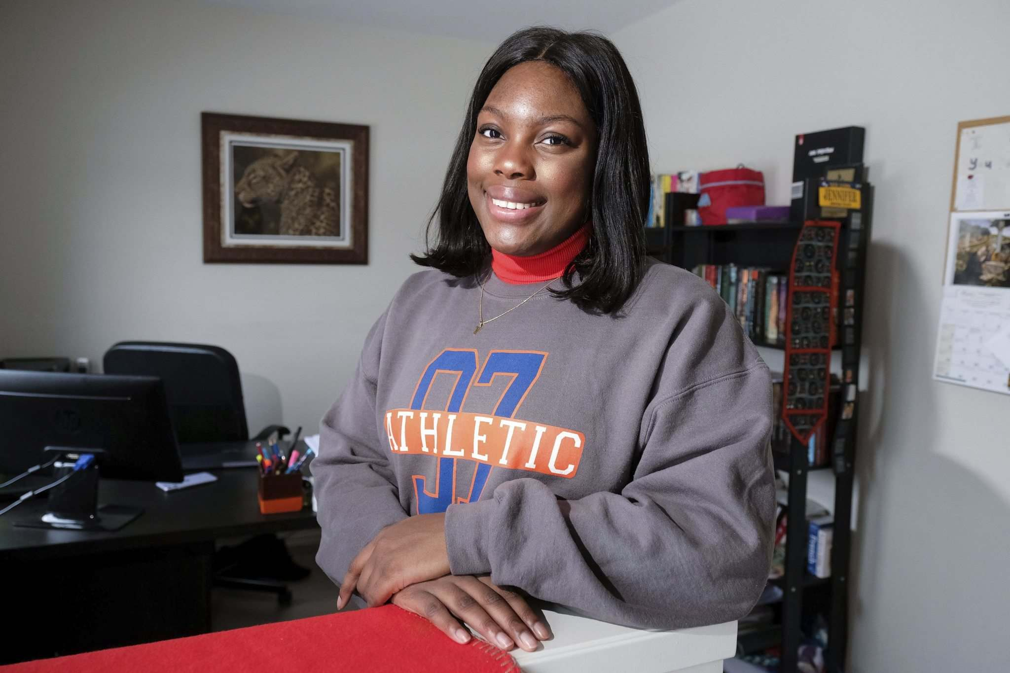Voke Ewhrudjakpor, who is in the International Baccalaureate program at Kelvin High School, participated in 22 in-person school days.