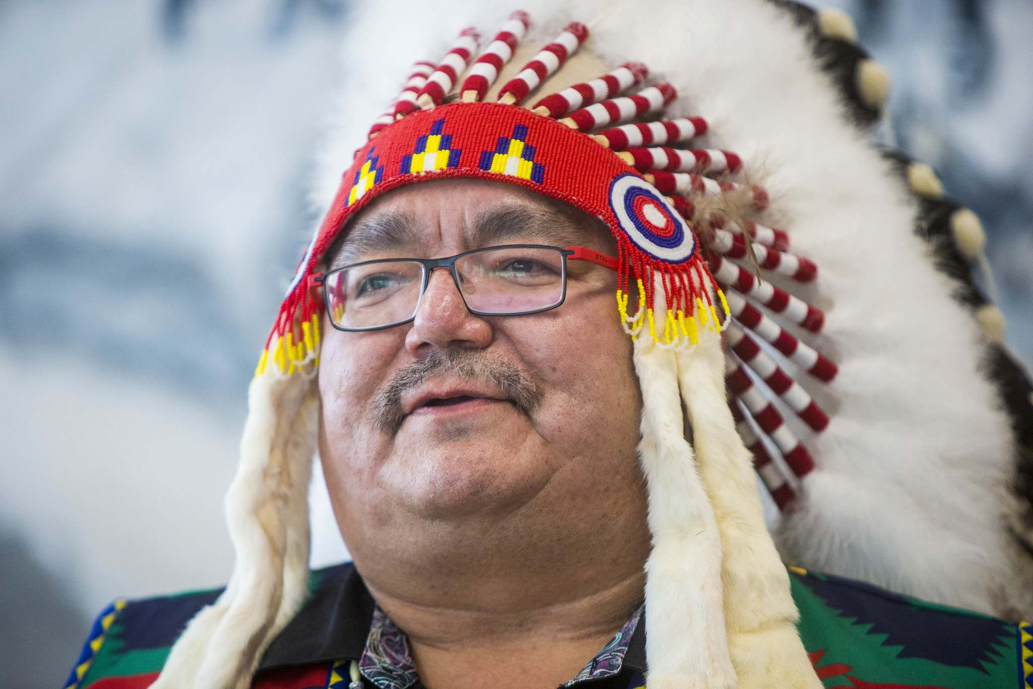 """MIKAELA MACKENZIE / WINNIPEG FREE PRESS FILES  """"Our protocols that we established are far over and above the province's protocols,"""" Peguis First Nation Chief Glenn Hudson said."""