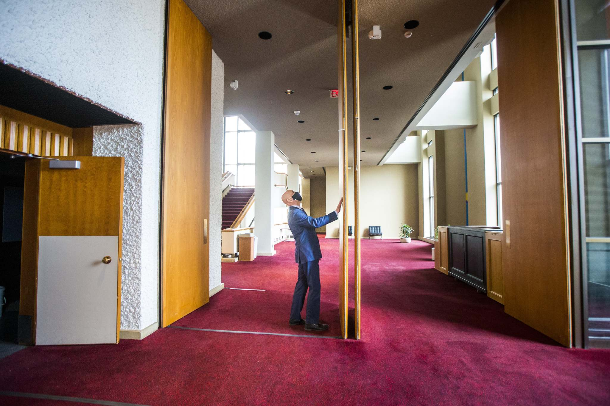 Martin Kull, general manager of the Centennial Concert Hall, is looking forward to the return of live performances. The concert hall is undergoing extensive renovations during the pandemic shutdown. (Mikaela MacKenzie / Winnipeg Free Press)</p>