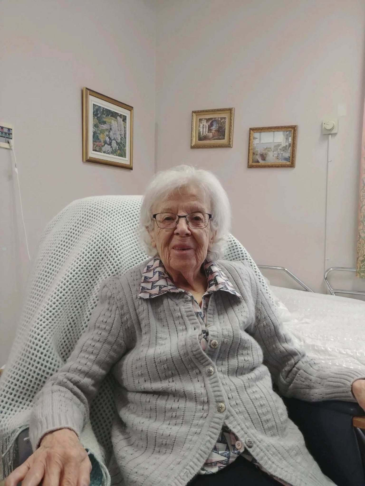 Gisele Levesque, an 89-year-old resident at the CHSLD Saint-Antoine senior's home, was the first Canadian to receive a COVID-19 vaccination. (Handout - National Capital Integrated University Centre of Health and Social Services / The Canadian Press files)