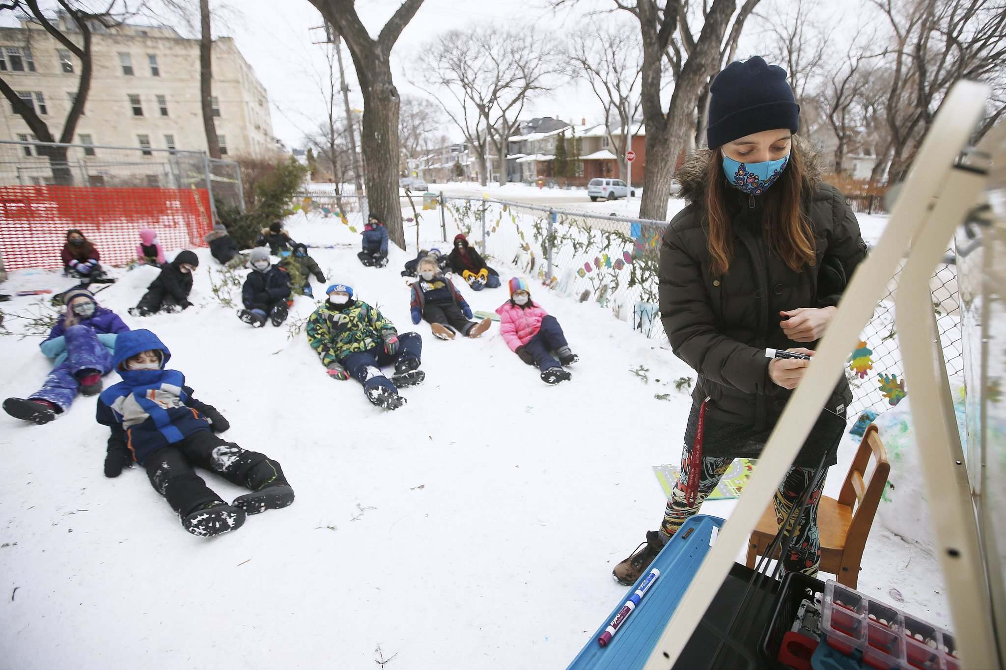 As long as students are getting something out of it, Lamont said snow class will continue throughout the school year.