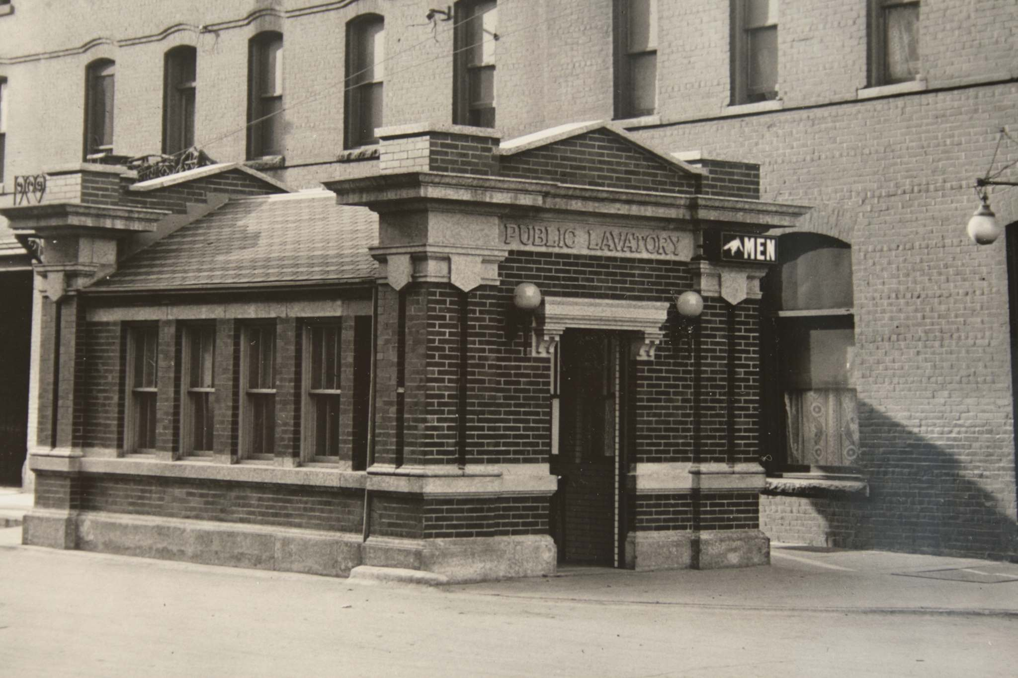 This comfort station, which stood on Logan Ave., was one of a few such public washrooms which eventually were torn down.</p>