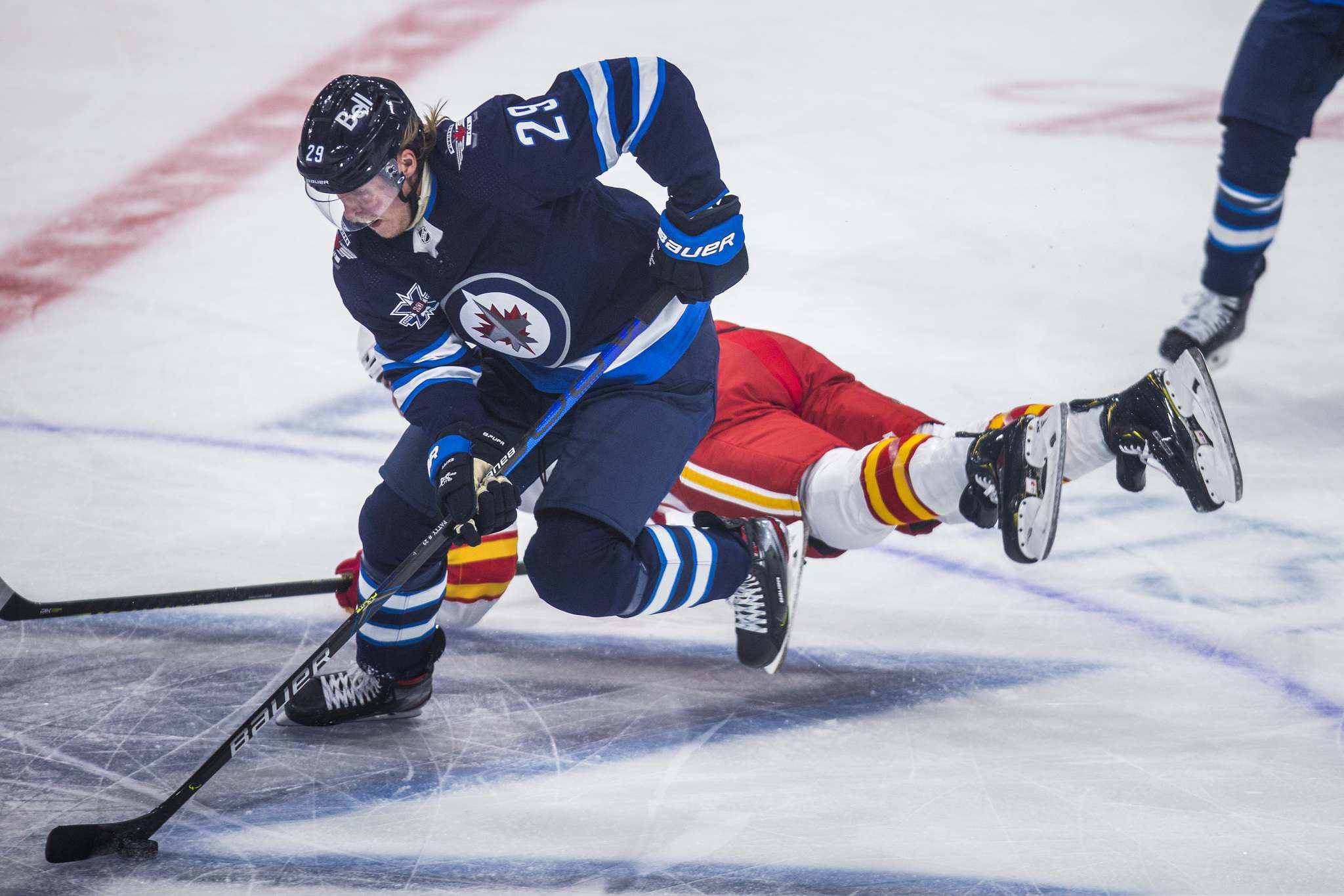 Swapping places with Patrik Laine, Pierre-Luc Dubois says he isn't intimidated by the legacy the former Jets sniper leaves behind.