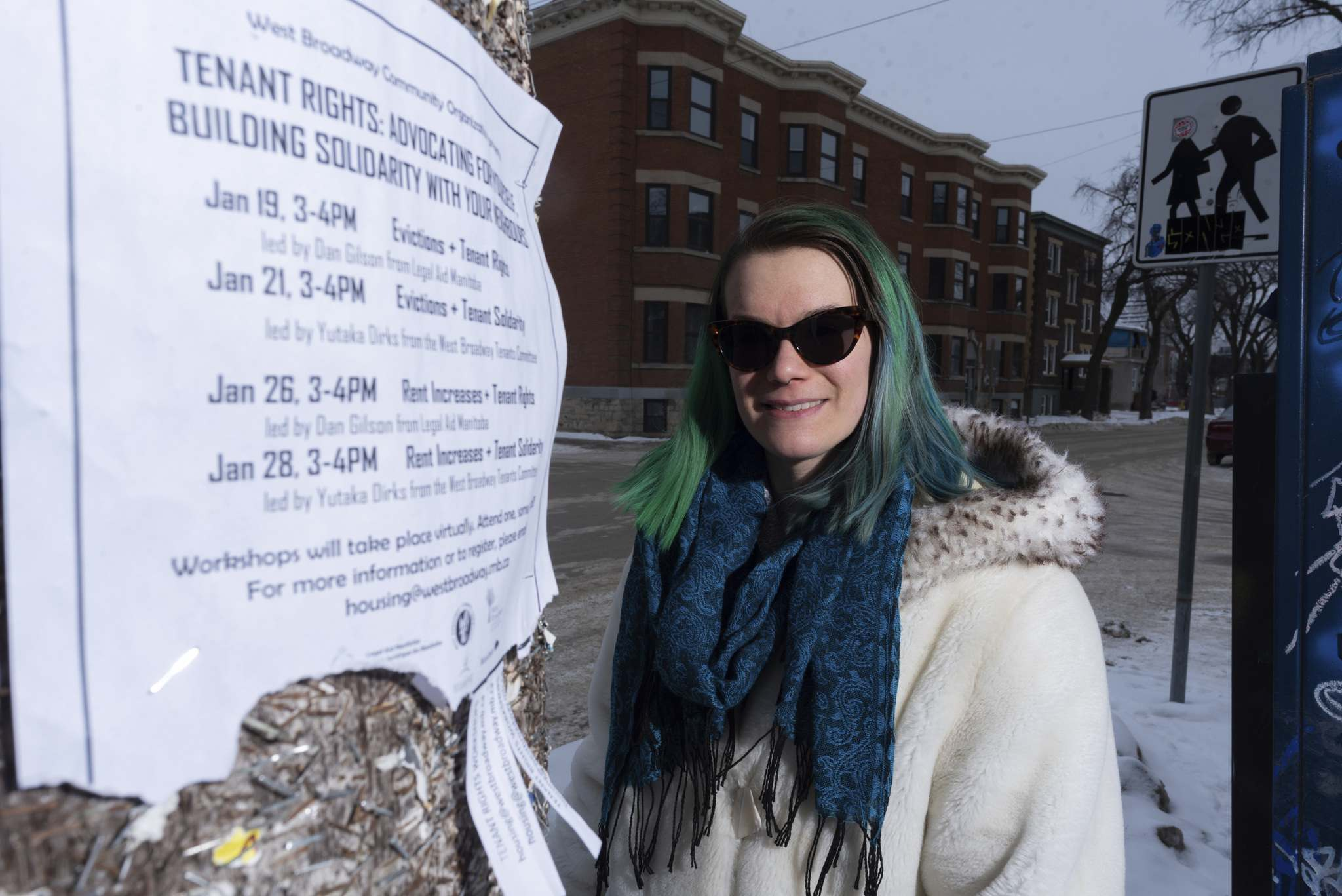 JESSE BOILY / WINNIPEG FREE PRESS</p><p>West Broadway Community Organization housing co-ordinator Ella Rockar recommends tenants learn as much as possible about the regulations regarding eviction and what protections are in place for renters.</p>