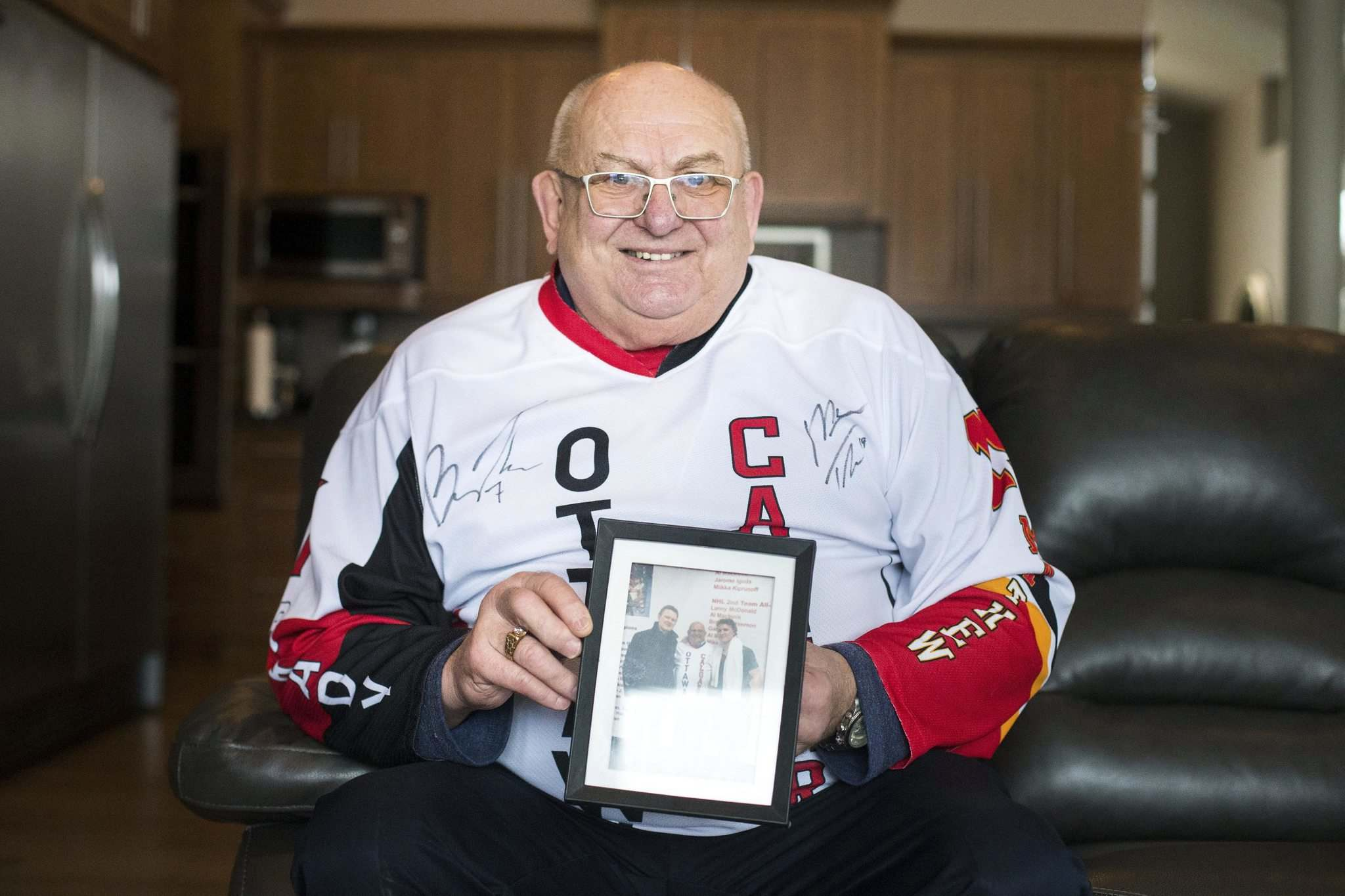 """""""I was always a Jets fan, back when Keith played here and in the John Ferguson days. We go back in history with the Jets a long way. But when it comes to the boys, blood is thicker. Not that I'm not faithful to the Jets, but I've got to cheer my boys on,"""" said Oster."""