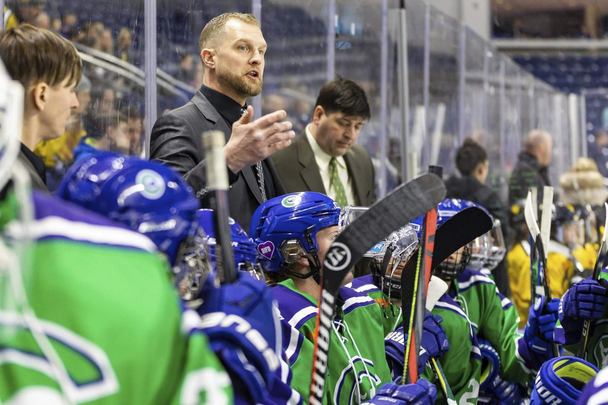 Connecticut Whale head coach Colton Orr says about two-thirds of his team tested positive for the coronavirus. (Bryan Johnson files)