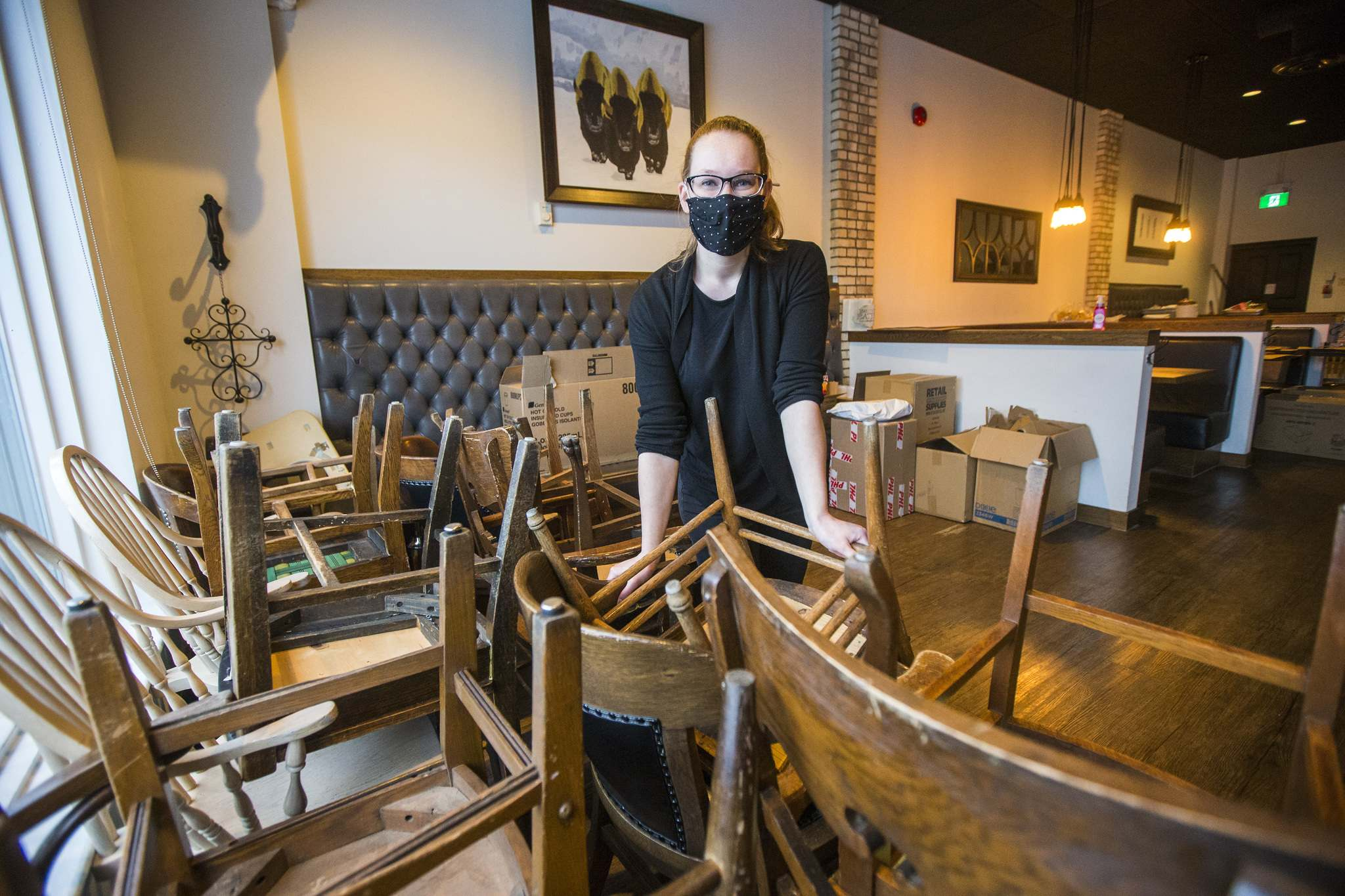 """Marion Street Eatery front-of-house manager Hayley McMurray: """"the best thing we've heard in weeks and weeks."""""""
