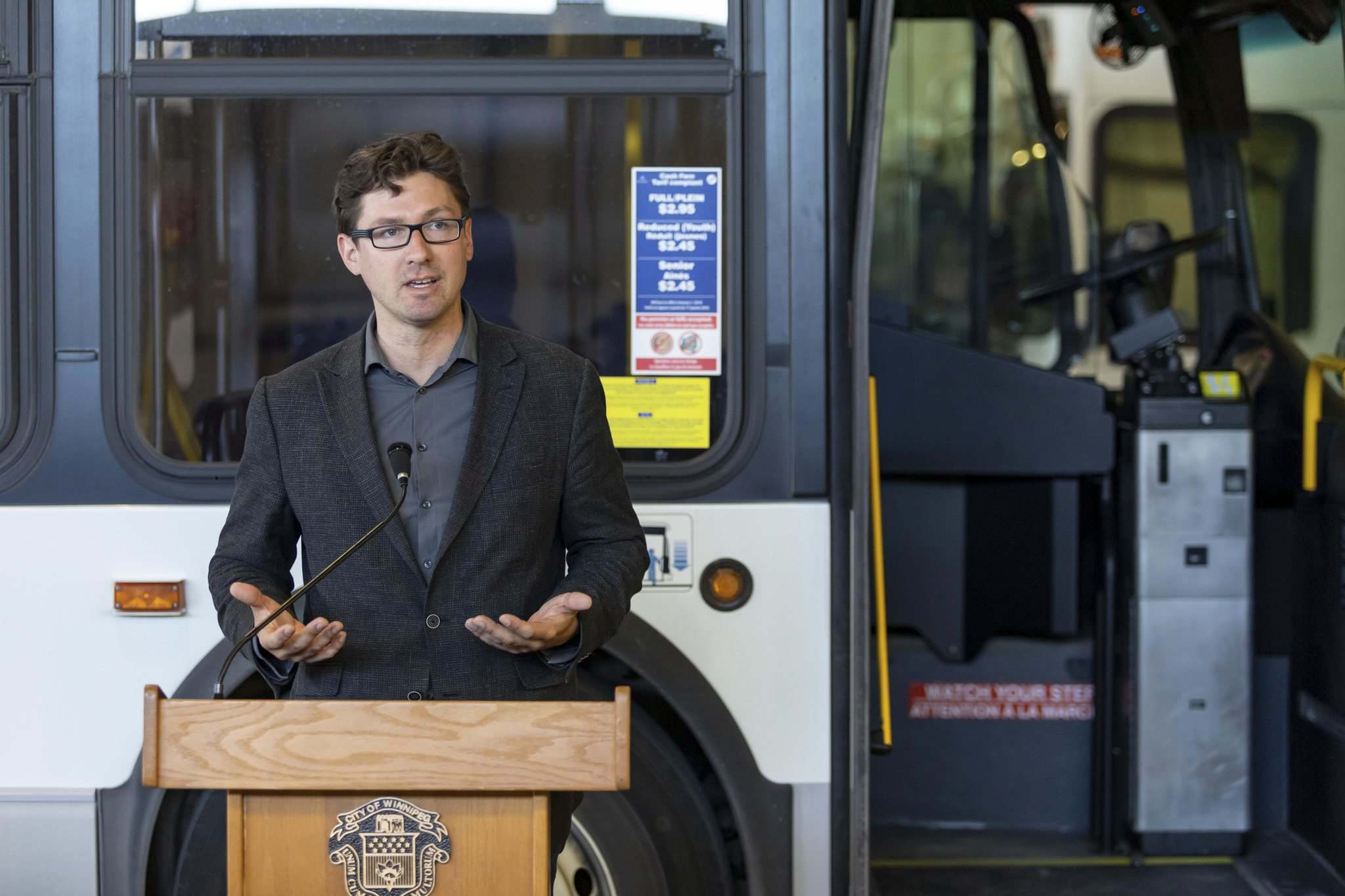 The city should take a cautious approach to electrifying transit buses to ensure the city is getting value for its money, says Coun. Matt Allard, chairman of the city's public works committee. (Sasha Sefter / Winnipeg Free Press files)