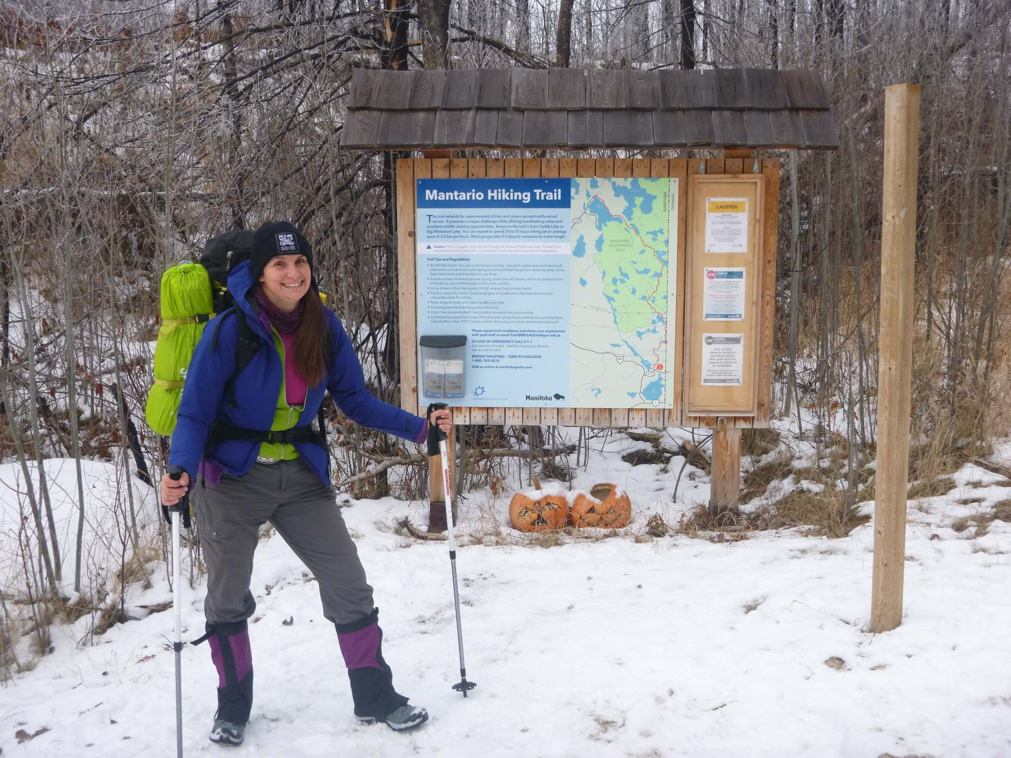JOCELYN MCLEAN PHOTO</p><p>Avid outdoor adventurer Jocelyn McLean hiked and camped on the Mantario Trail in December, she made the 64-kilometre trek in two nights and three days. </p>