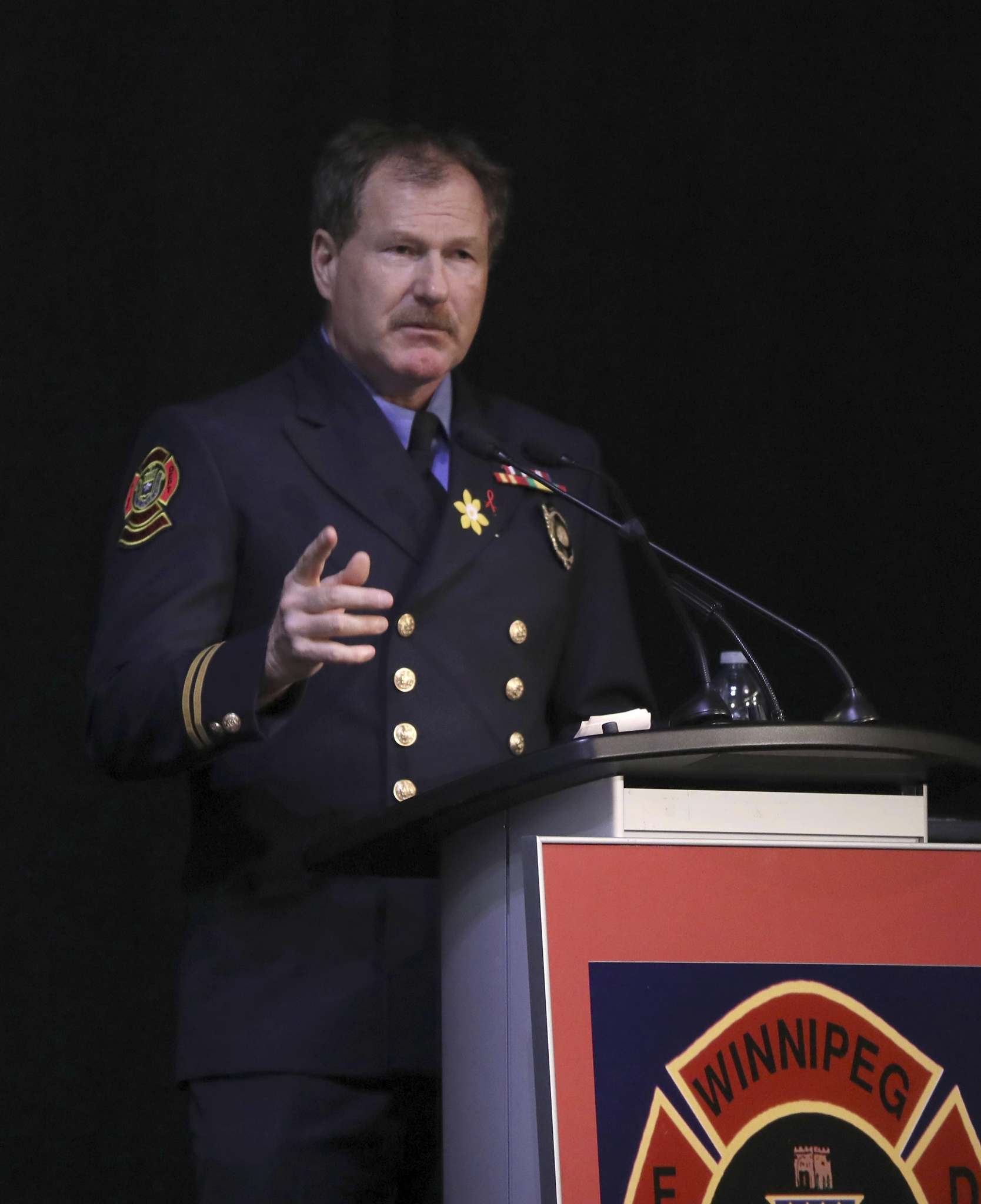 Alex Forrest was voted in as president of the United Fire Fighters of Winnipeg as almalgamation was underway, a position he holds to this day.