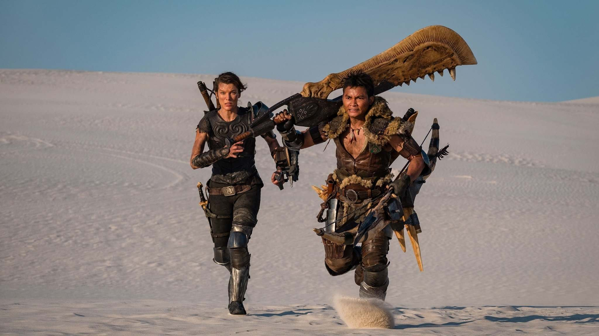 Sony Pictures</p><p>A-hunting we will go: Milla Jovovich as Artemis and Tony Jaa as The Hunter in Monster Hunter. </p>