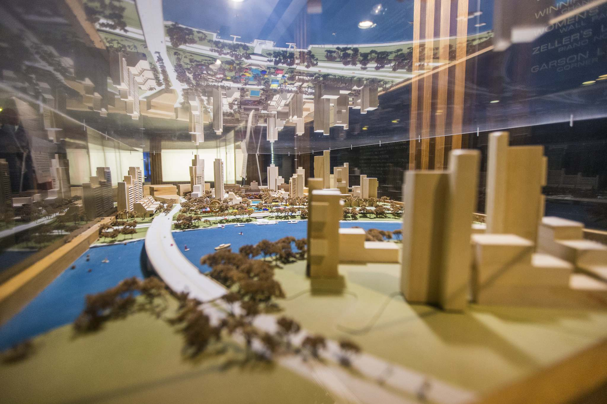 MIKAELA MACKENZIE / WINNIPEG FREE PRESS</p><p>A model of the Cultural Centre Renewal Scheme, part of an ambitious proposal to combat what was seen as downtown's decline in the 1950s and 1960s. Mayor Stephen Juba said the plan would make Winnipeg known as 'the city of the future.'</p>