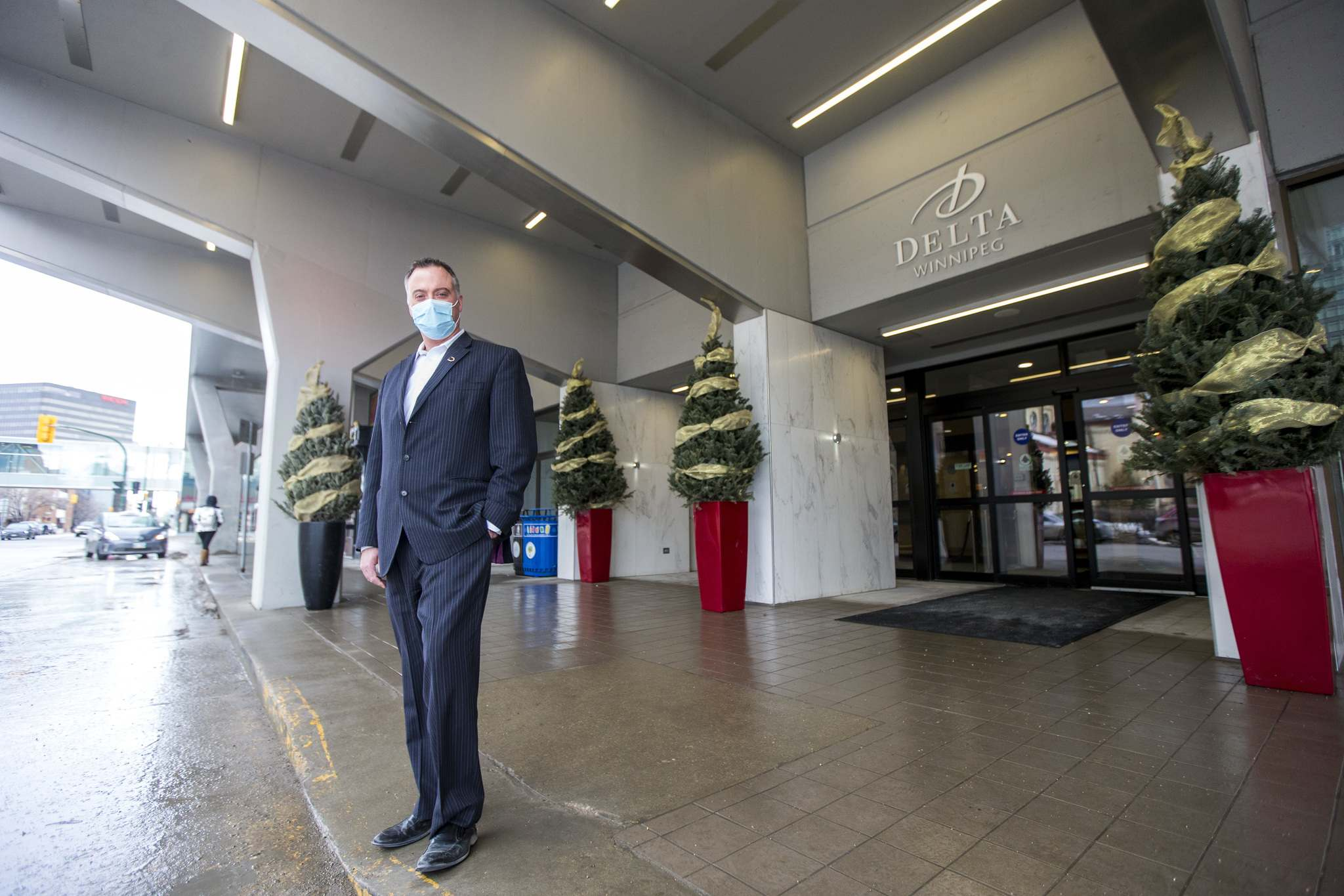 Jeff Kennedy, general manager of the Delta Hotel, had high hopes for 2020 after a booming year in 2019. But then mid-March hit and business all but vanished. (Mikaela MacKenzie / Winnipeg Free Press)
