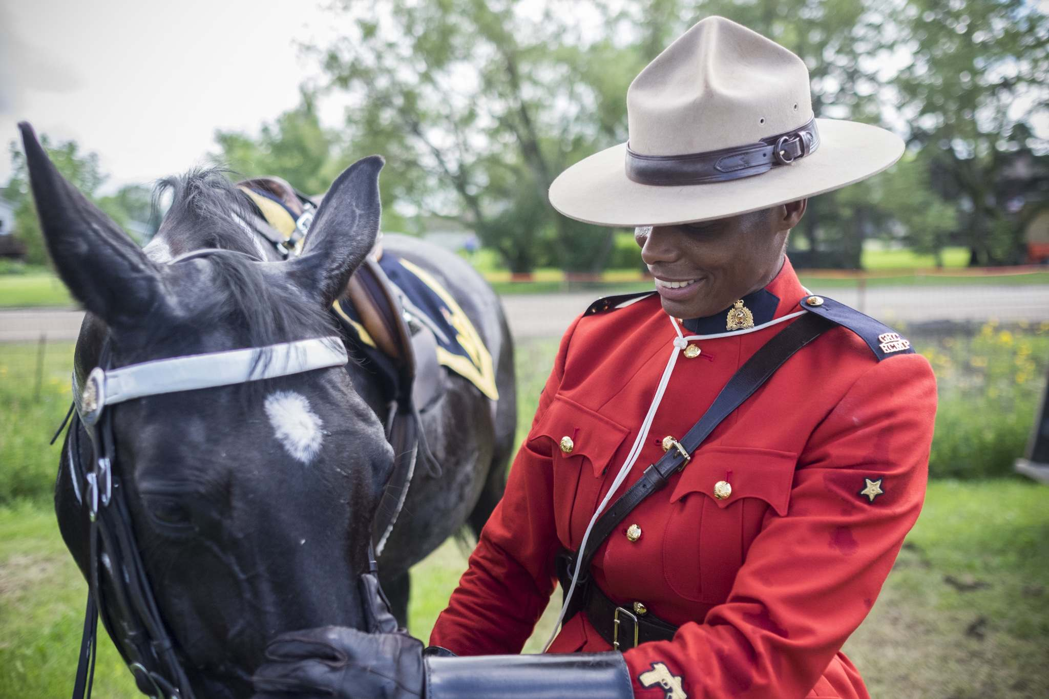Const. Janis Kelly with her horse Pichou in the RCMP Musical Ride in 2016. Kelly, who turns 50 next month and is now stationed in Lac du Bonnet.