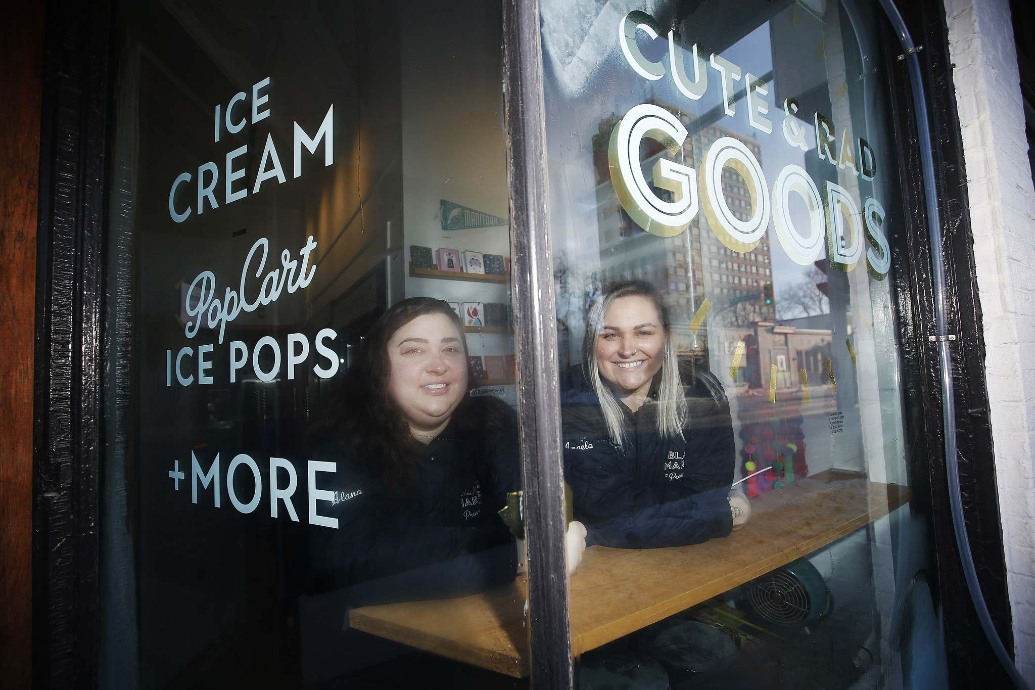 John Woods / THE CANADIAN PRESS FILES</p><p>Business partners Alana Fiks, left, and Angela Farkas put a call-out on social media to help them highlight all queer businesses in the city and province.</p>