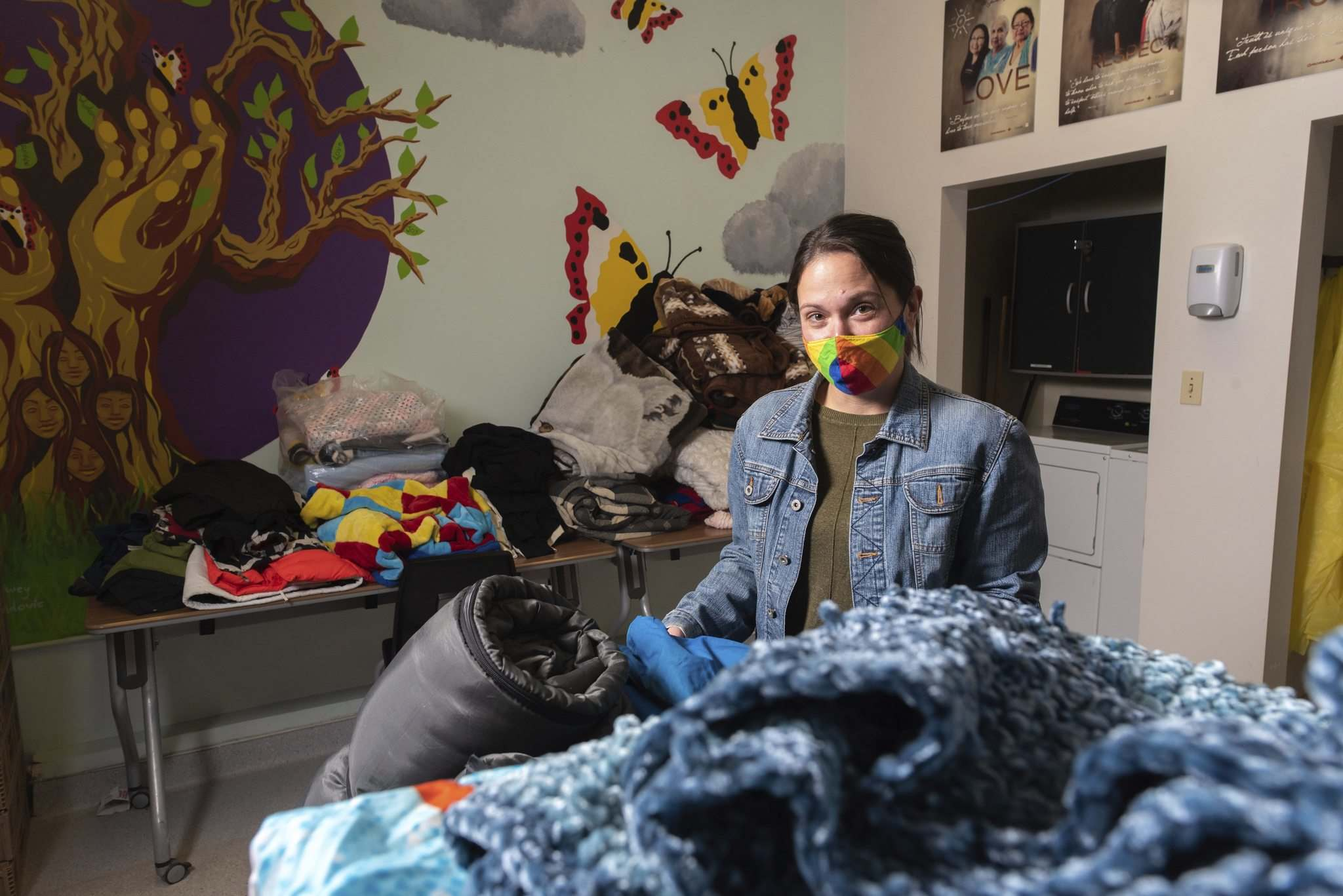 """There's almost an upside to this pandemic that it's given people an opportunity to step back and realize how fortunate amny of us are,"" said Tara Zajac, executive director of the North Point Douglas Women's Centre. (Jesse Boily / Winnipeg Free Press files)</p>"