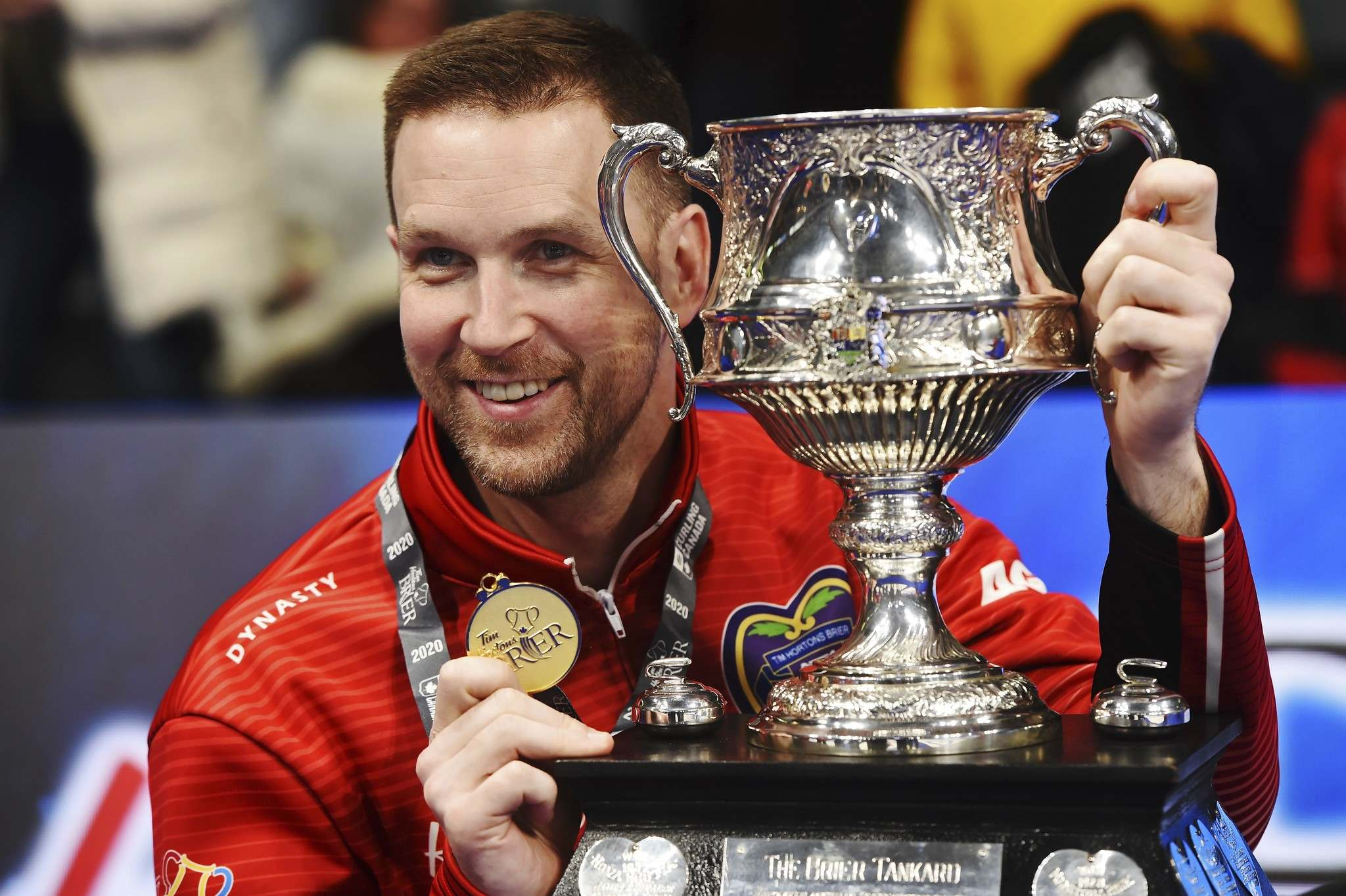 Skip Brad Gushue has hoisted the trophy in 2017, 2018 and last year.