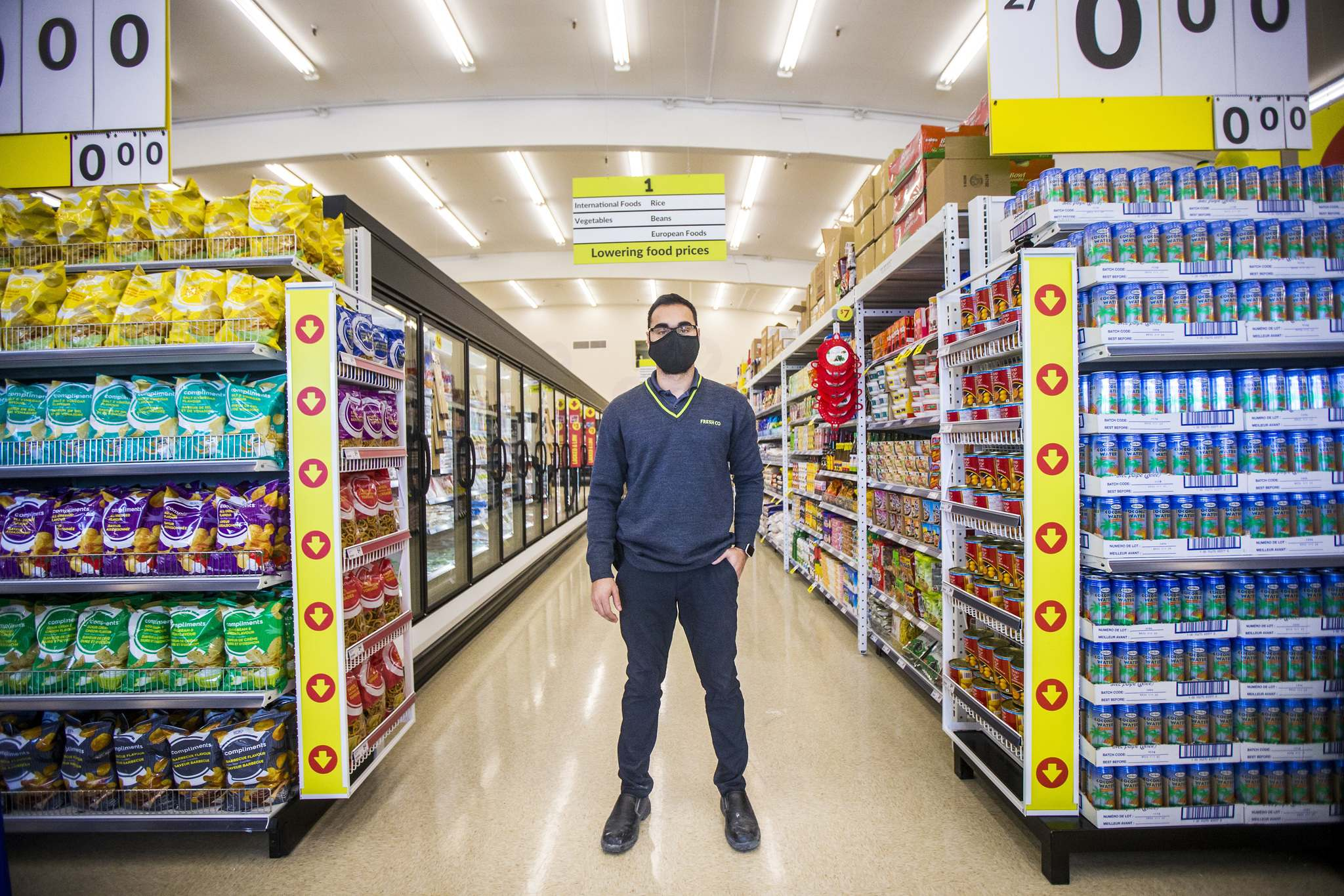 Eric Nugent will open the doors for the first time to a new FreshCo store on Henderson Highway.