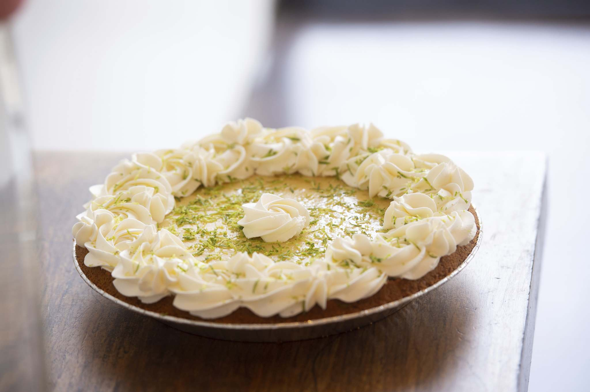 Lilac Bakery's pie menu includes key lime and more than a dozen other varieties. (Mike Sudoma / Winnipeg Free Press)</p>